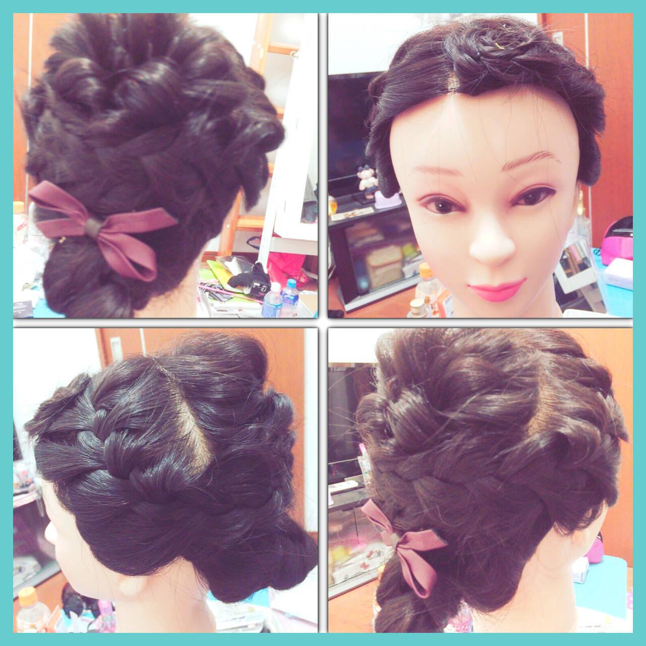 ショート 編み込み 抜け感 ねじりヘアスタイルや髪型の写真・画像