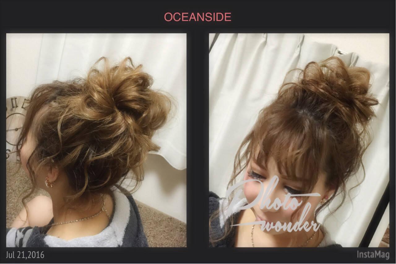 ゆるふわ ヘアアレンジ お団子 大人かわいいヘアスタイルや髪型の写真・画像