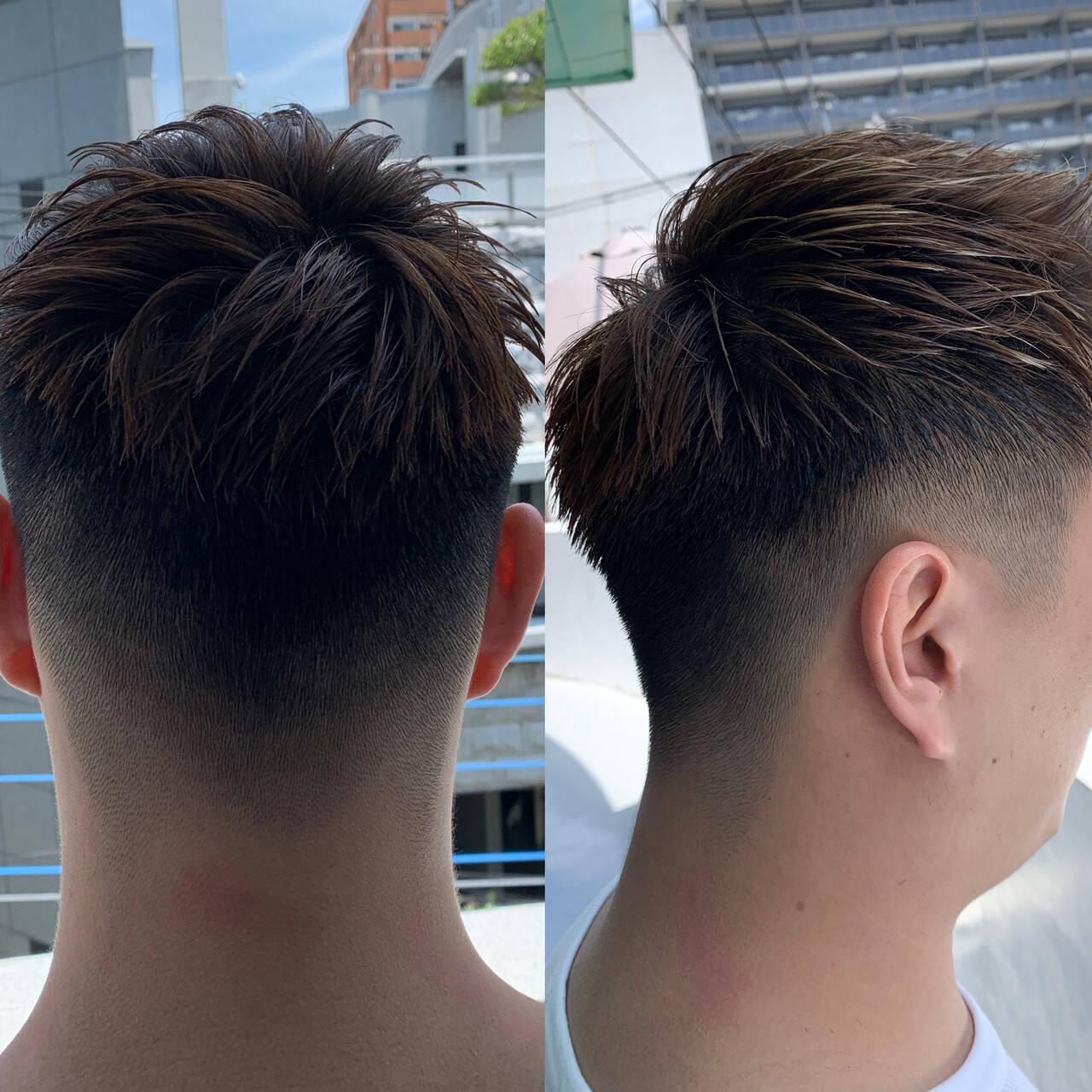 メンズヘア フェードカット アウトドア ストリートヘアスタイルや髪型の写真・画像