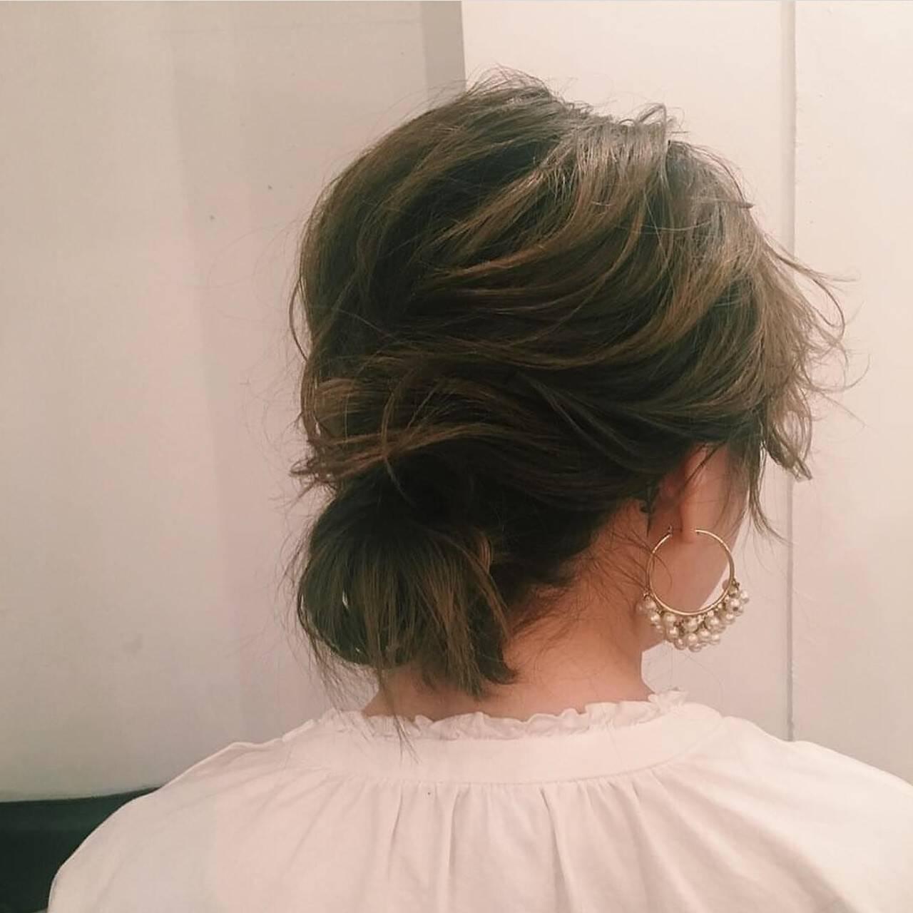 ヘアアレンジ 透明感 オリーブアッシュ ロングヘアスタイルや髪型の写真・画像