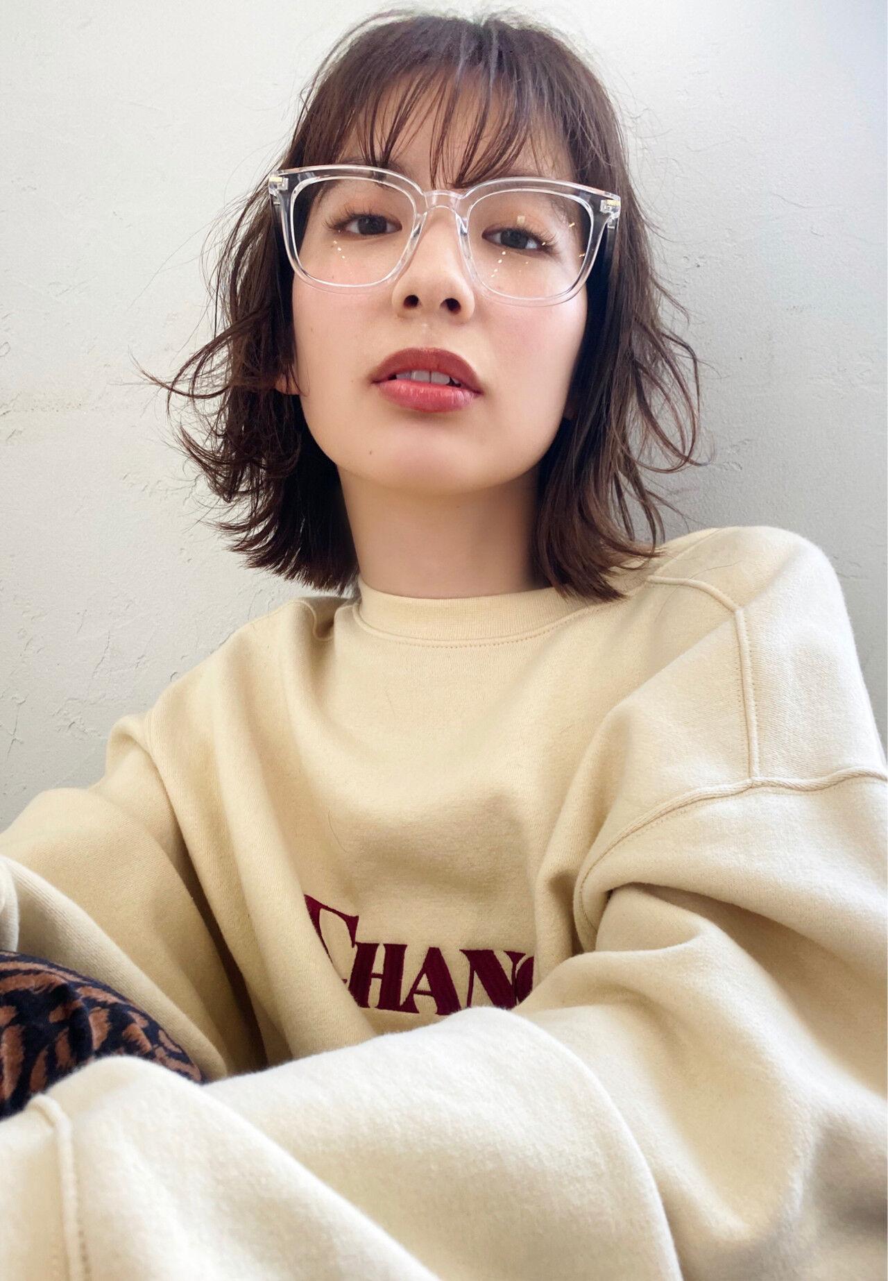 ショートボブ ミニボブ  ナチュラルヘアスタイルや髪型の写真・画像