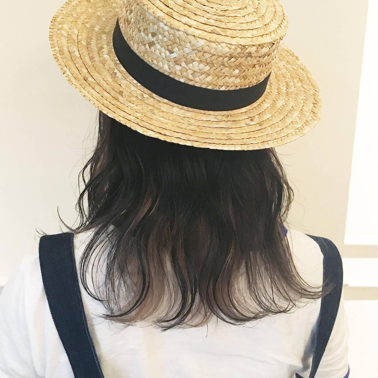 涼しげ アウトドア ヘアアレンジ ガーリーヘアスタイルや髪型の写真・画像