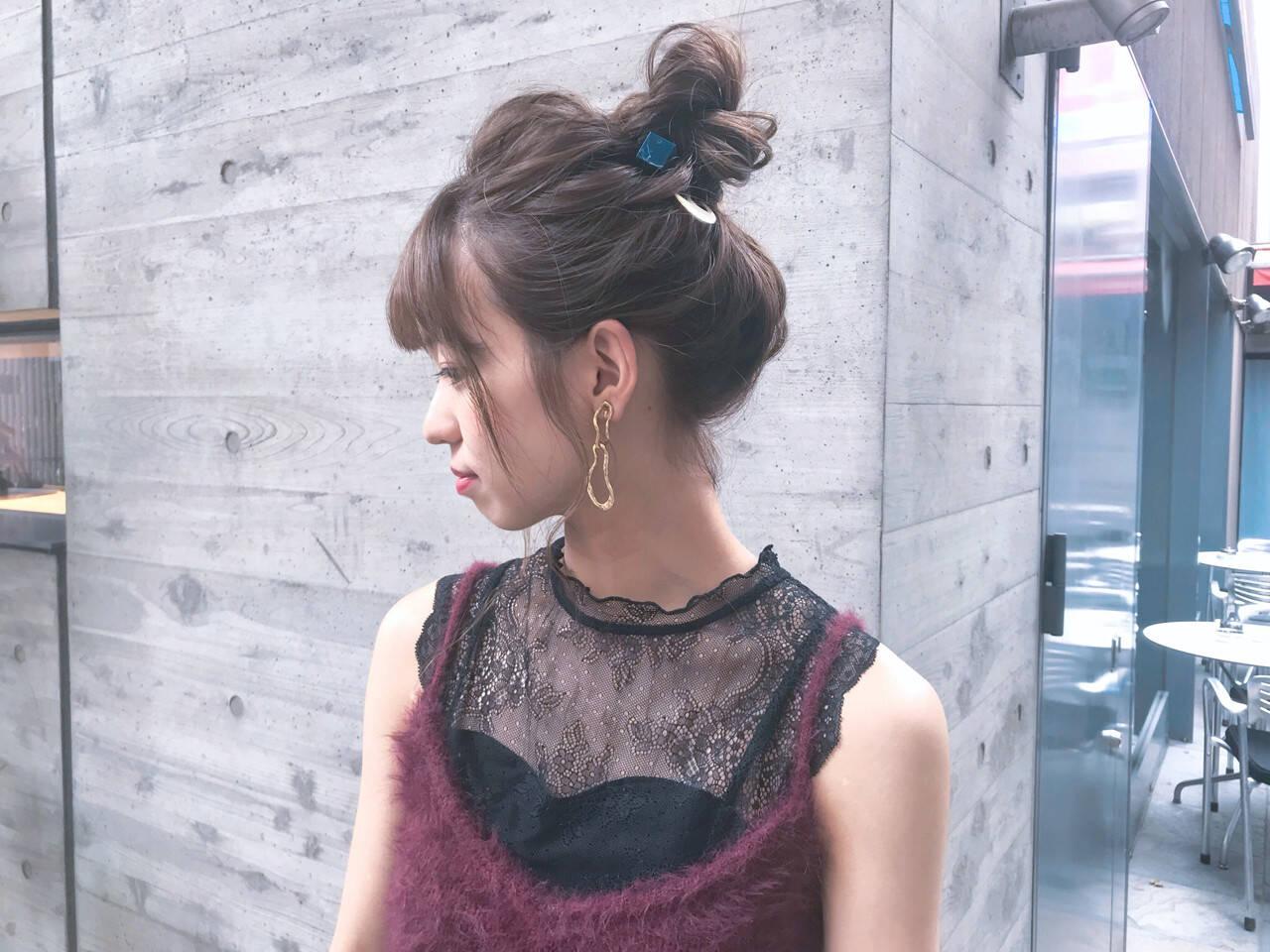 スポーツ ミディアム デート ヘアアレンジヘアスタイルや髪型の写真・画像