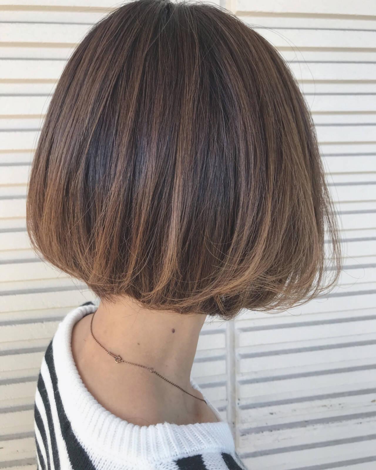 ボブ ショート 上品 エレガントヘアスタイルや髪型の写真・画像