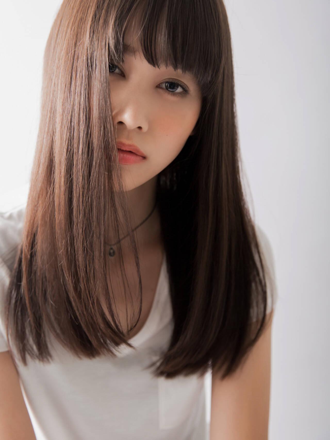 ストレート ストリート 外国人風 色気ヘアスタイルや髪型の写真・画像
