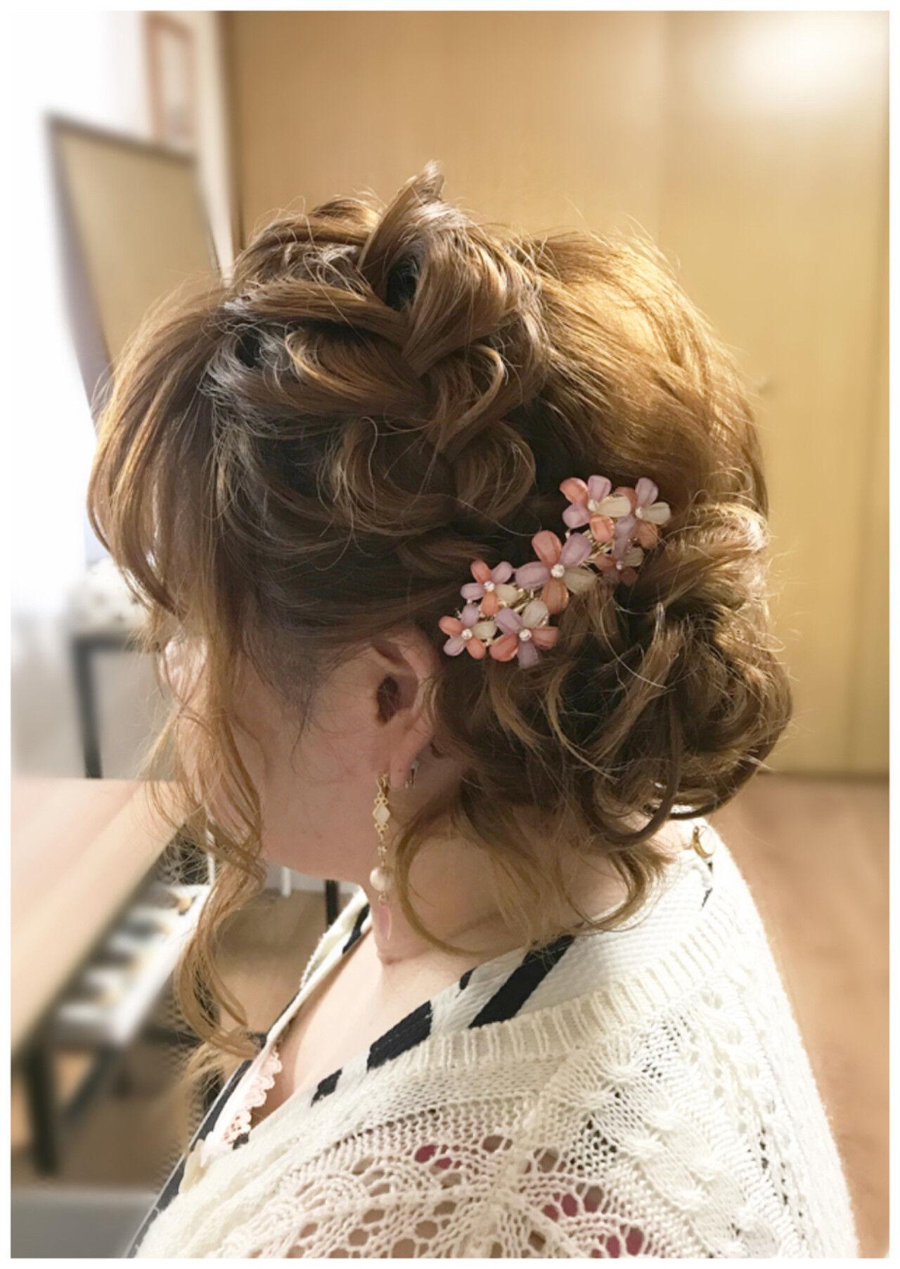ミディアム 結婚式 夏 パーティヘアスタイルや髪型の写真・画像