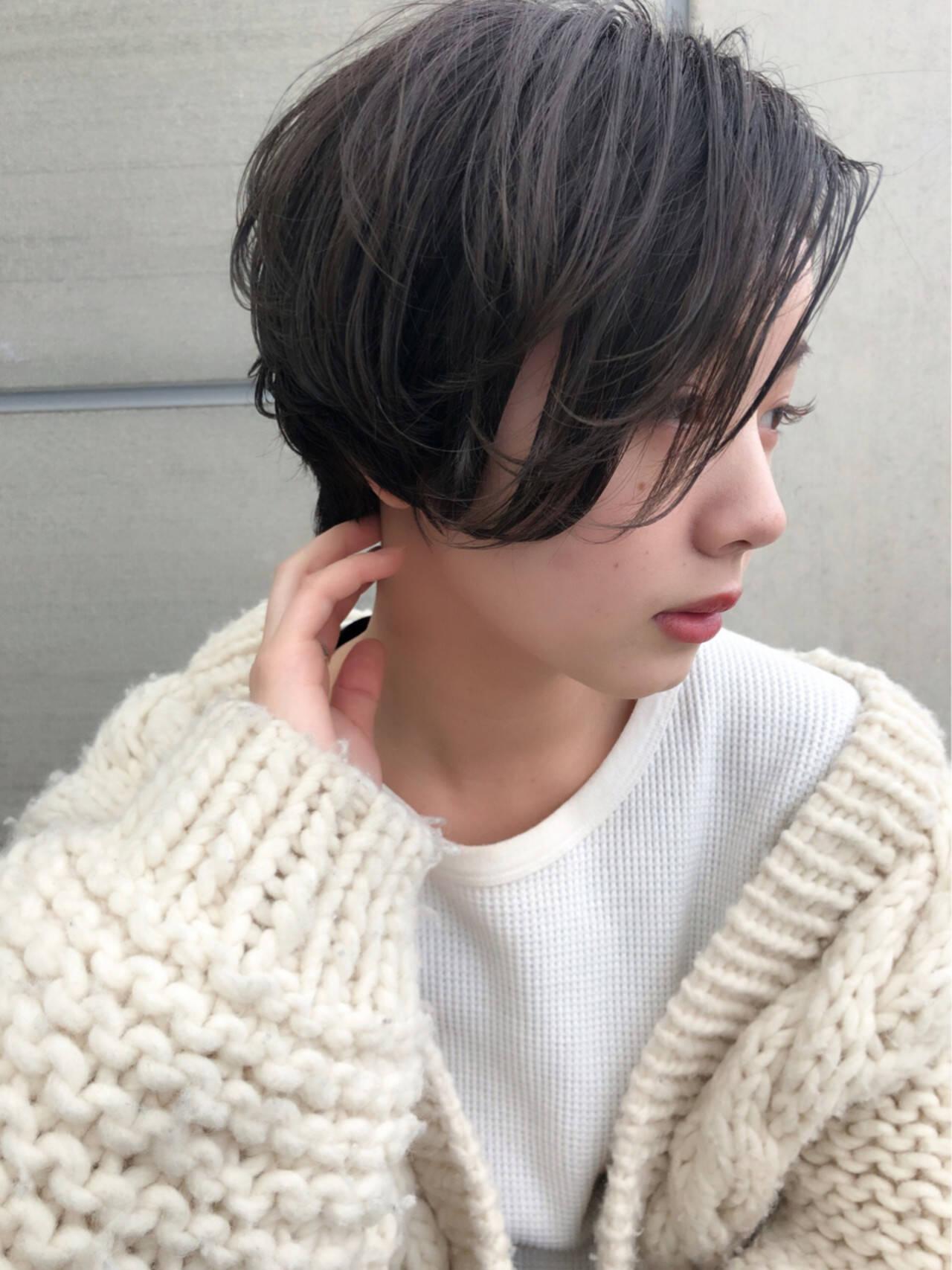 ショートボブ ナチュラル ふわふわ ショートヘアスタイルや髪型の写真・画像