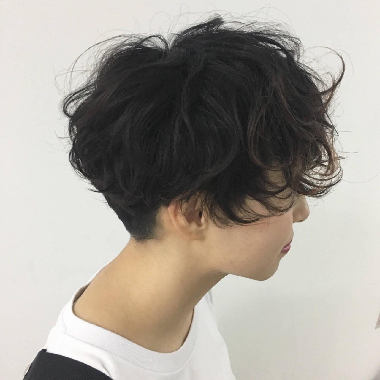 ストリート ゆるふわ 簡単 ショートヘアスタイルや髪型の写真・画像