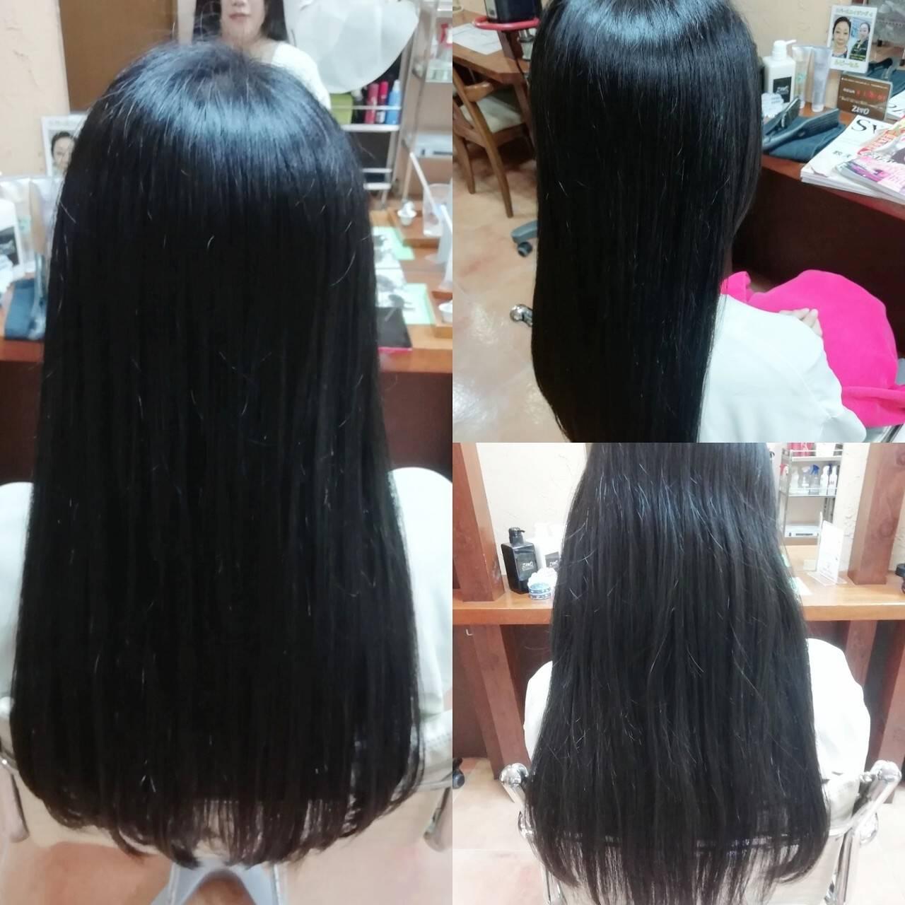 髪質改善カラー ナチュラル ロング 髪質改善ヘアスタイルや髪型の写真・画像