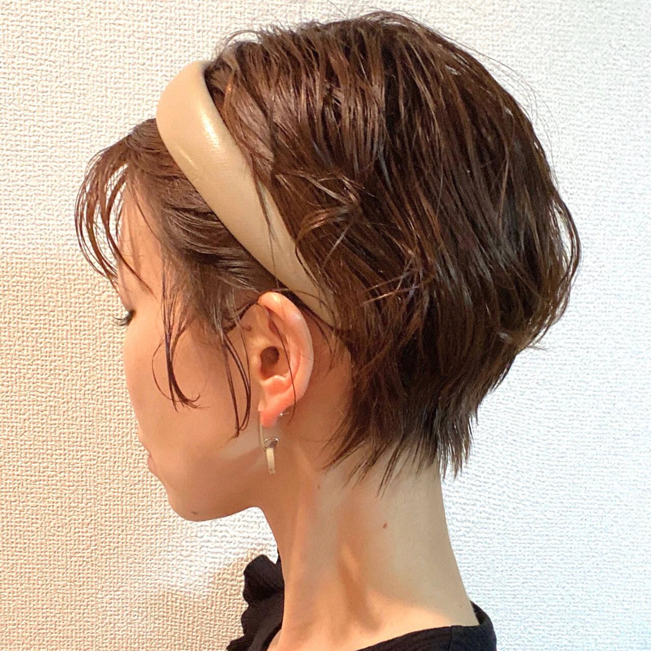ショートヘア ショート 丸みショート ナチュラルヘアスタイルや髪型の写真・画像