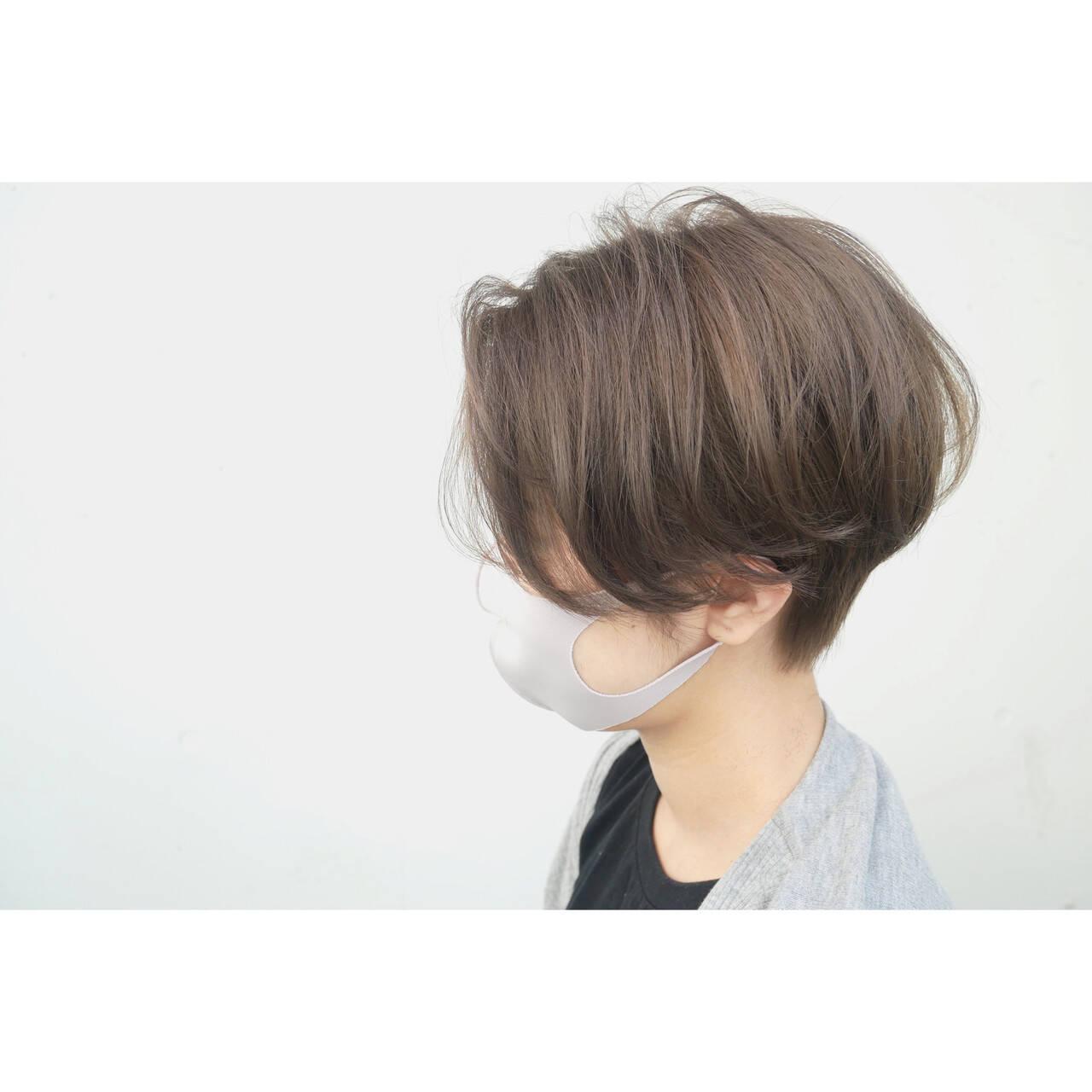 ナチュラル ショート ベリーショート ショートヘアヘアスタイルや髪型の写真・画像