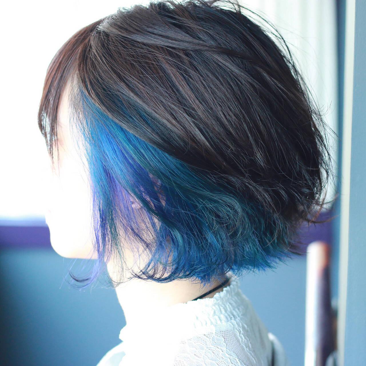 ブリーチ 派手髪 ハイトーン モードヘアスタイルや髪型の写真・画像