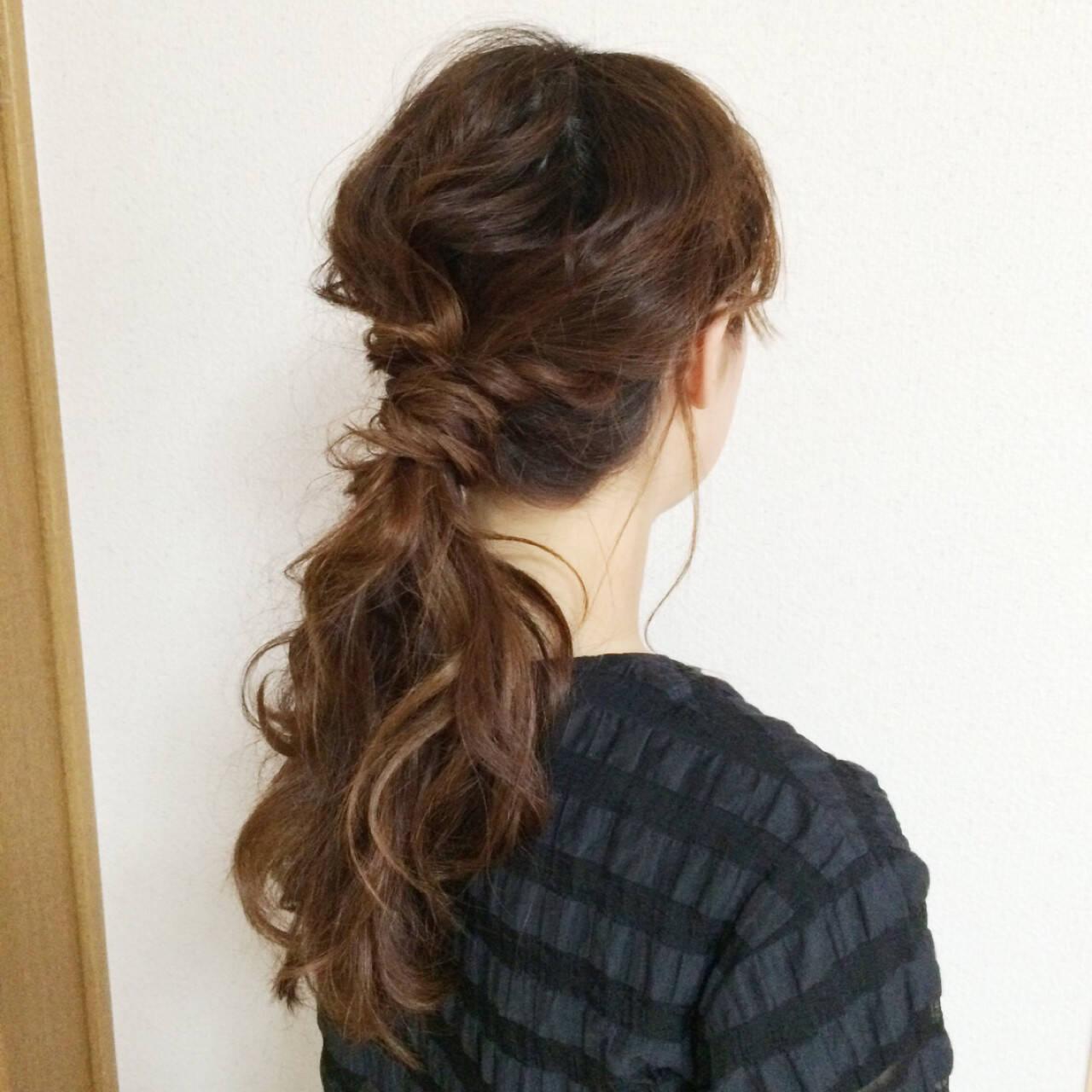 簡単ヘアアレンジ ハーフアップ アッシュ ヘアアレンジヘアスタイルや髪型の写真・画像