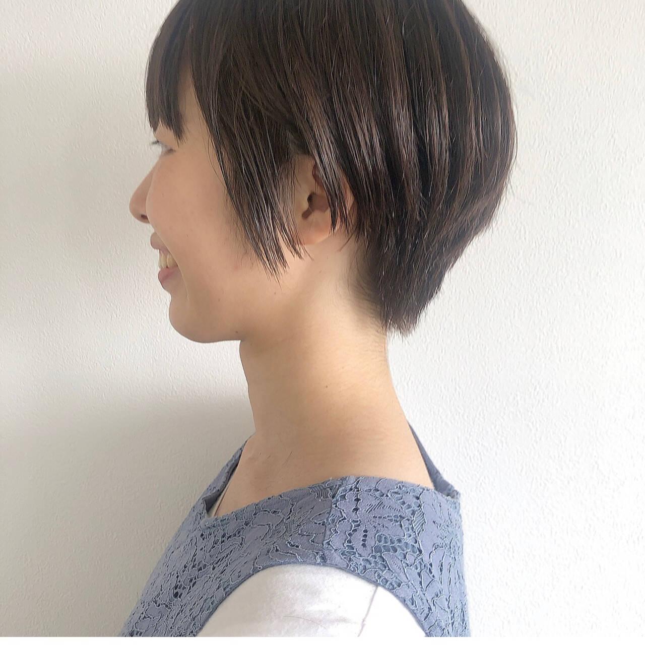 ベリーショート ショートヘア ナチュラル ショートヘアスタイルや髪型の写真・画像