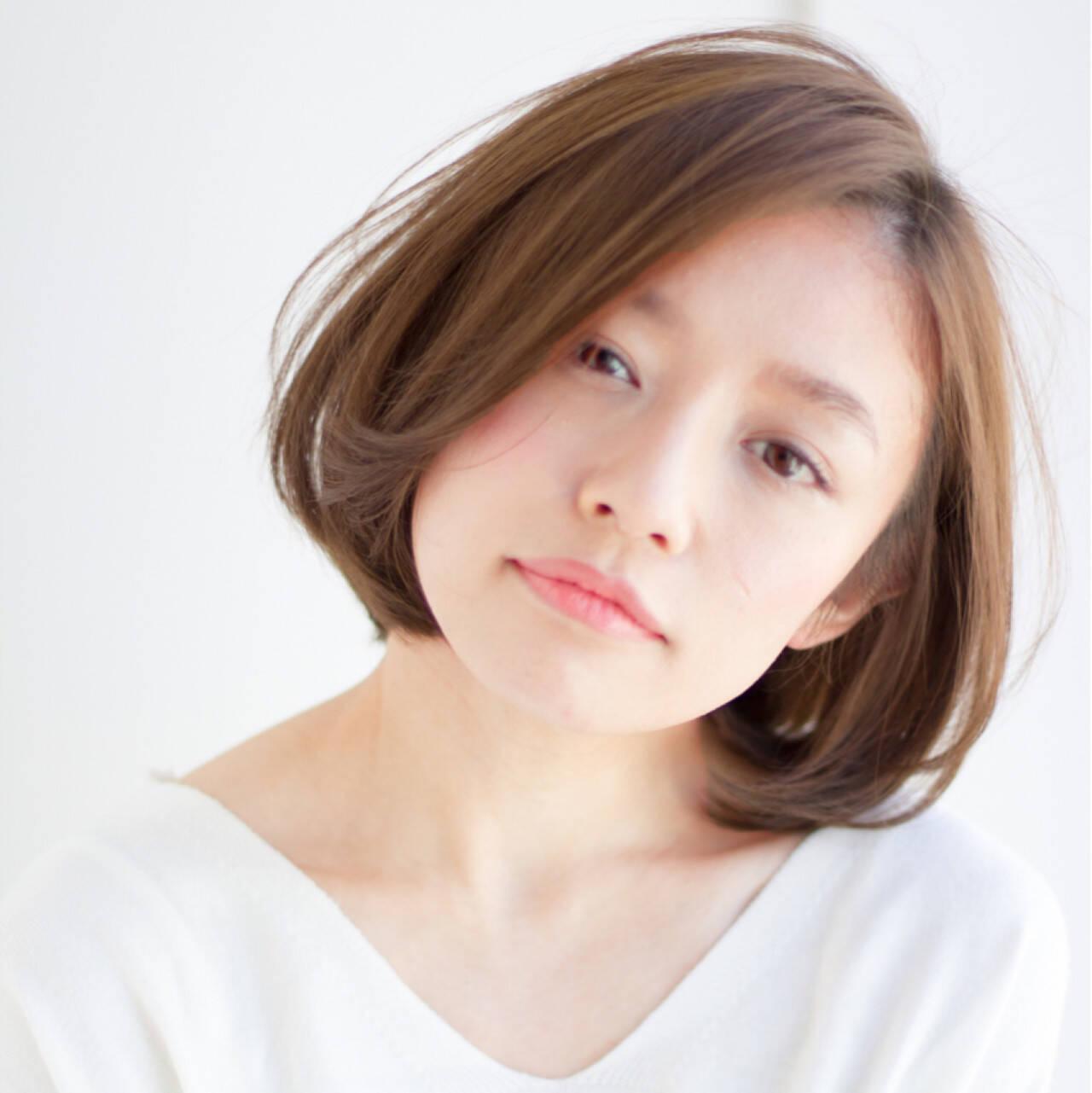 小顔 大人かわいい ワンカールパーマ ゆるふわヘアスタイルや髪型の写真・画像