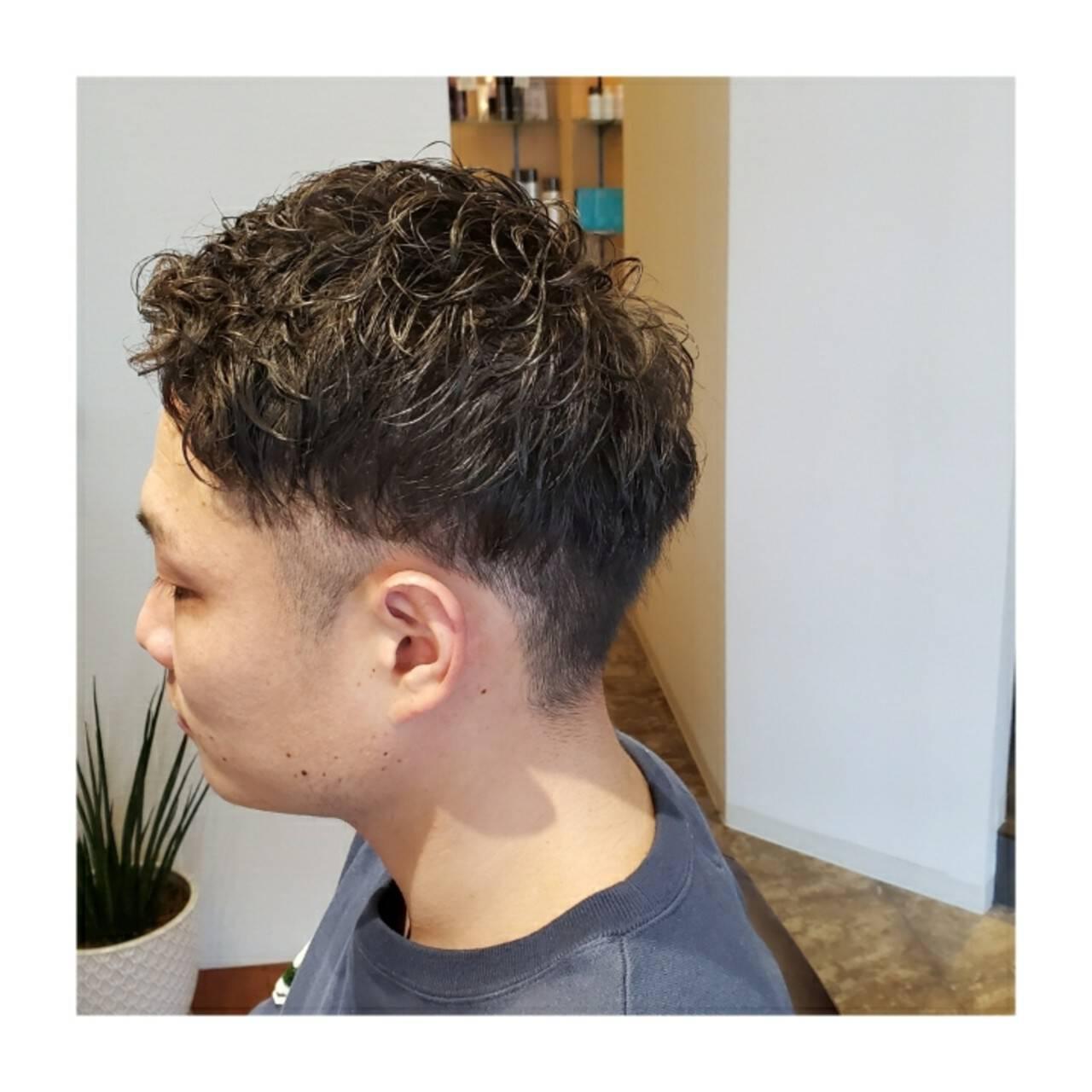 ショート メンズヘア メンズパーマ ショートヘアヘアスタイルや髪型の写真・画像