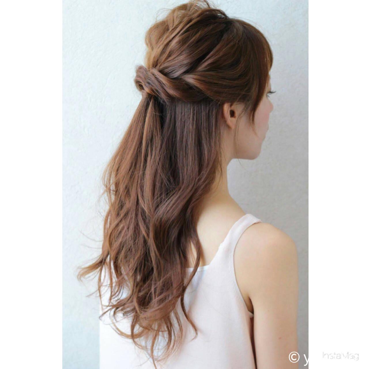 ゆるふわ ロング フェミニン ヘアアレンジヘアスタイルや髪型の写真・画像