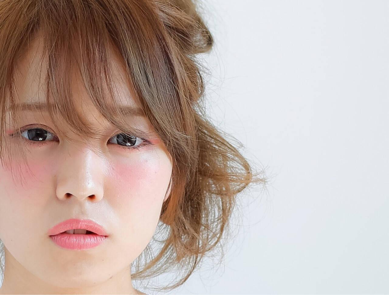 簡単ヘアアレンジ ヘアアレンジ ショート ピュアヘアスタイルや髪型の写真・画像