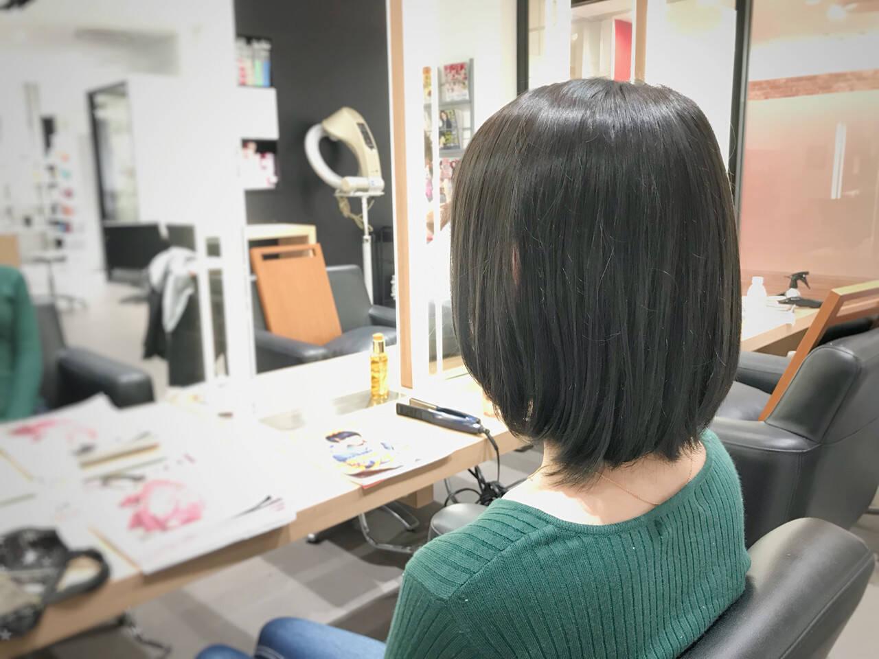 オフィス コンサバ ボブ 女子力ヘアスタイルや髪型の写真・画像