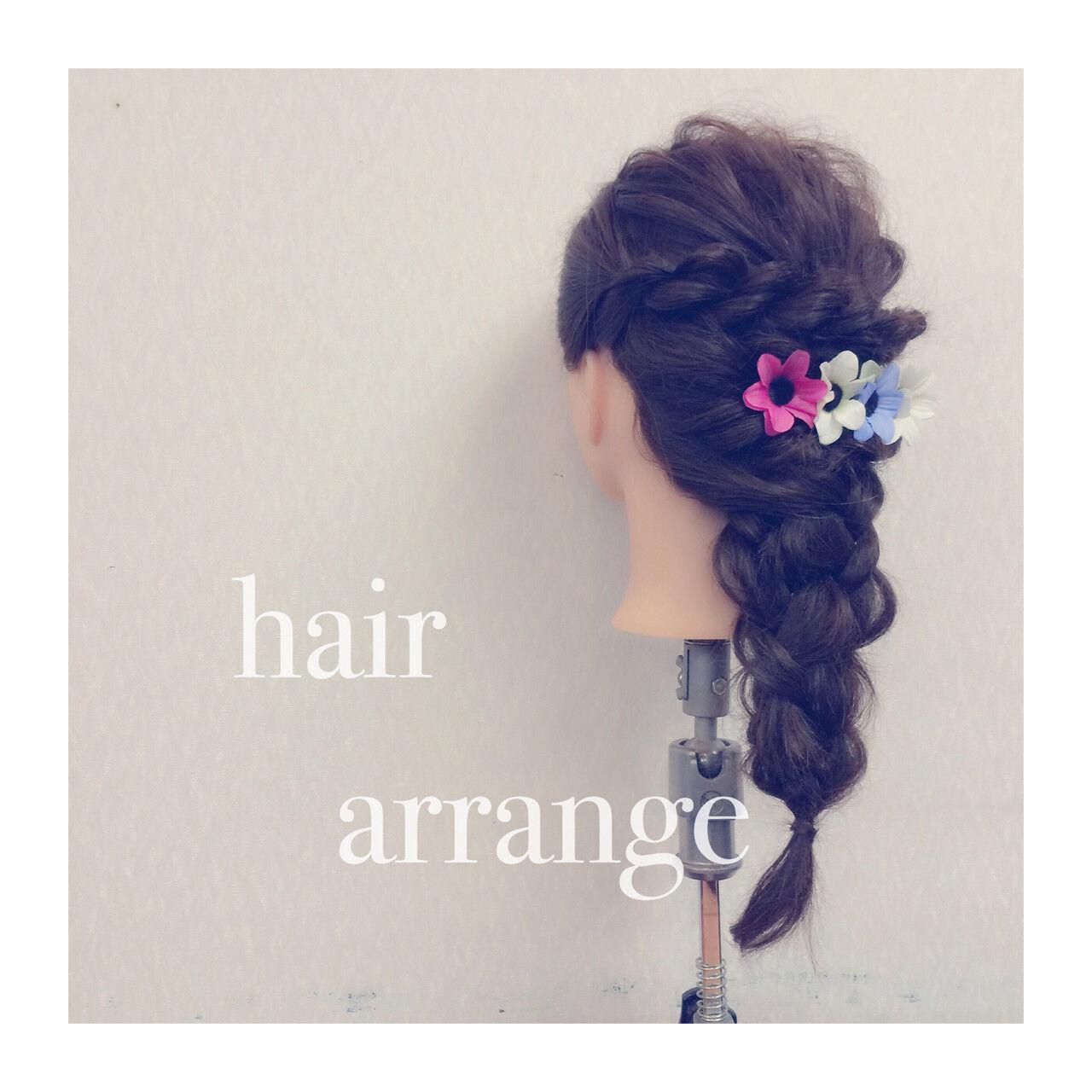 ショート ヘアアレンジ 簡単ヘアアレンジ ロングヘアスタイルや髪型の写真・画像