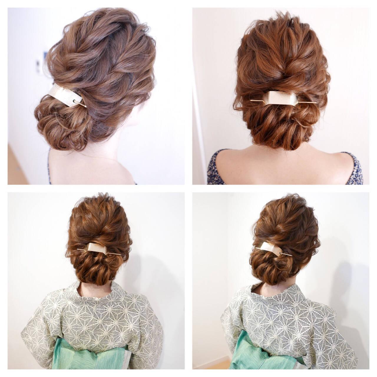 ゆるふわ ヘアアレンジ ロング 和装ヘアスタイルや髪型の写真・画像