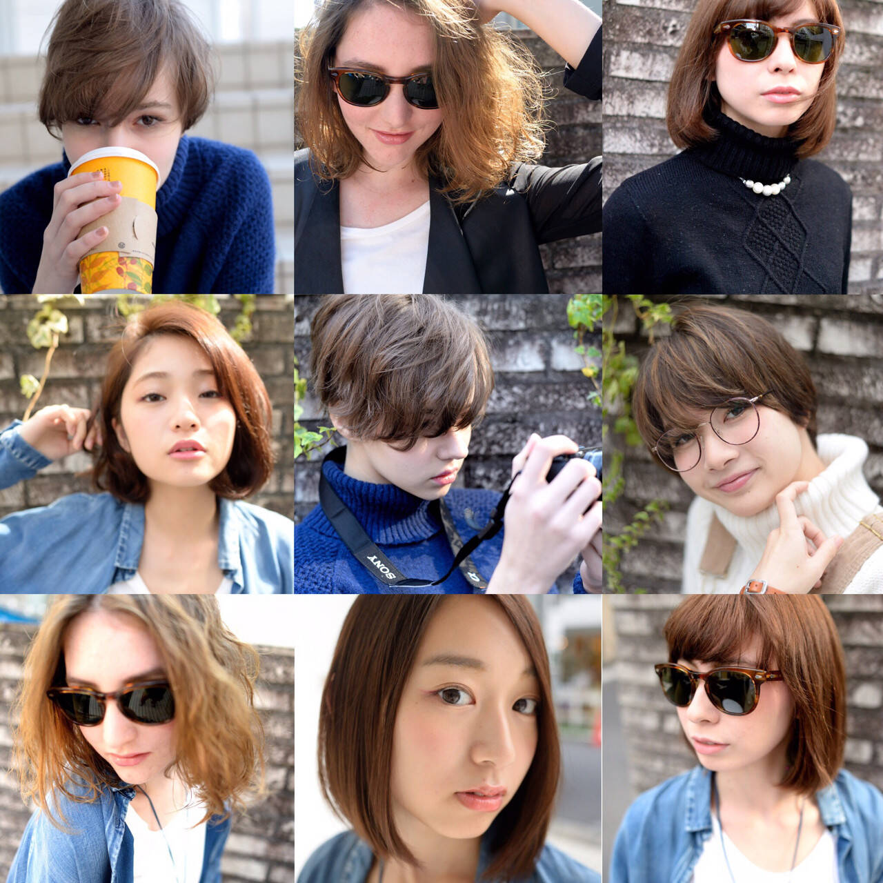 外国人風 ボブ パーマ 簡単ヘアスタイルや髪型の写真・画像