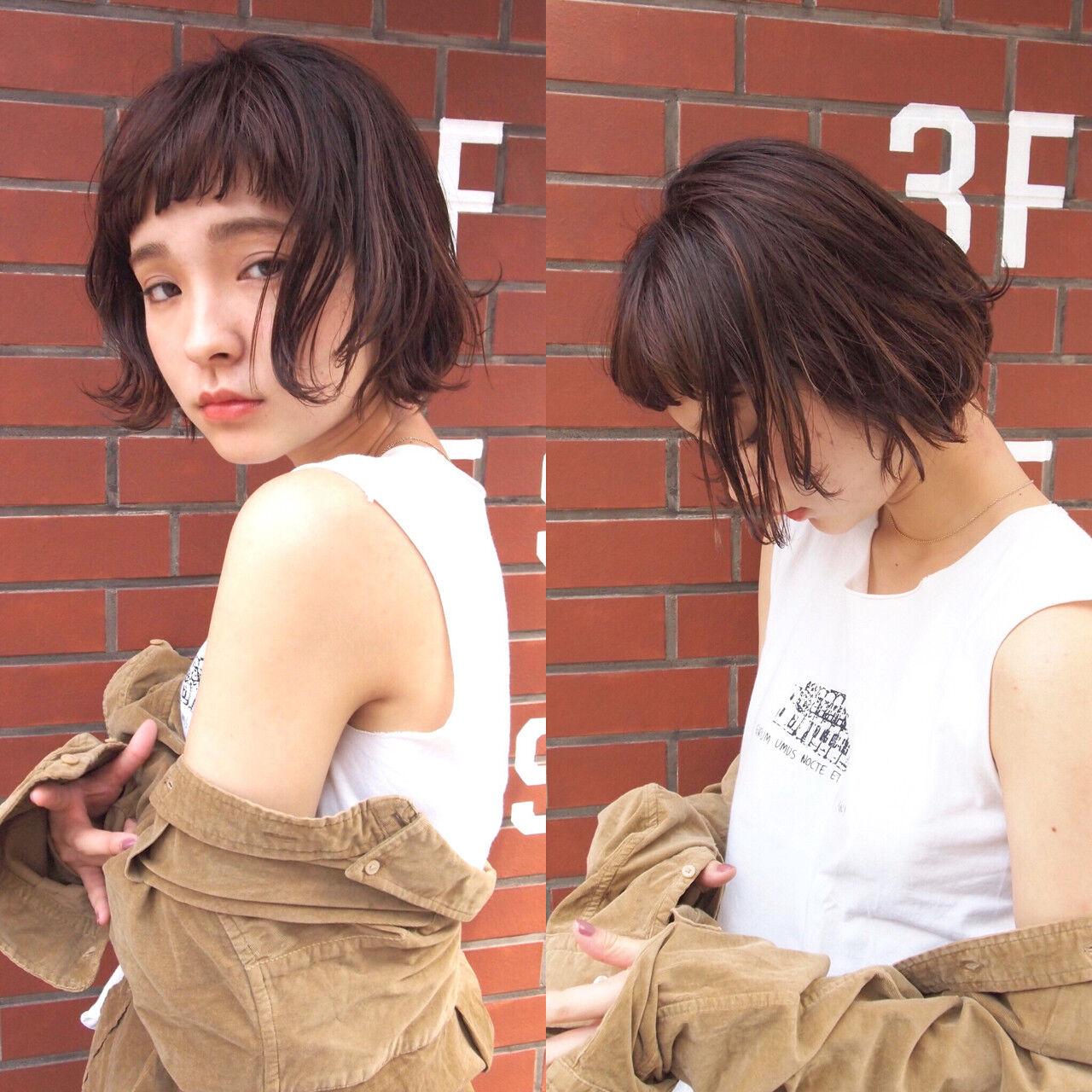 ウェットヘア ナチュラル 大人かわいい ショートヘアスタイルや髪型の写真・画像