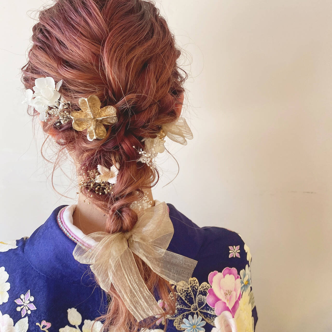 成人式 ヘアアレンジ 成人式ヘア セミロングヘアスタイルや髪型の写真・画像