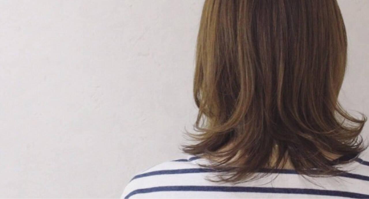 外ハネ 色気 大人女子 小顔ヘアスタイルや髪型の写真・画像