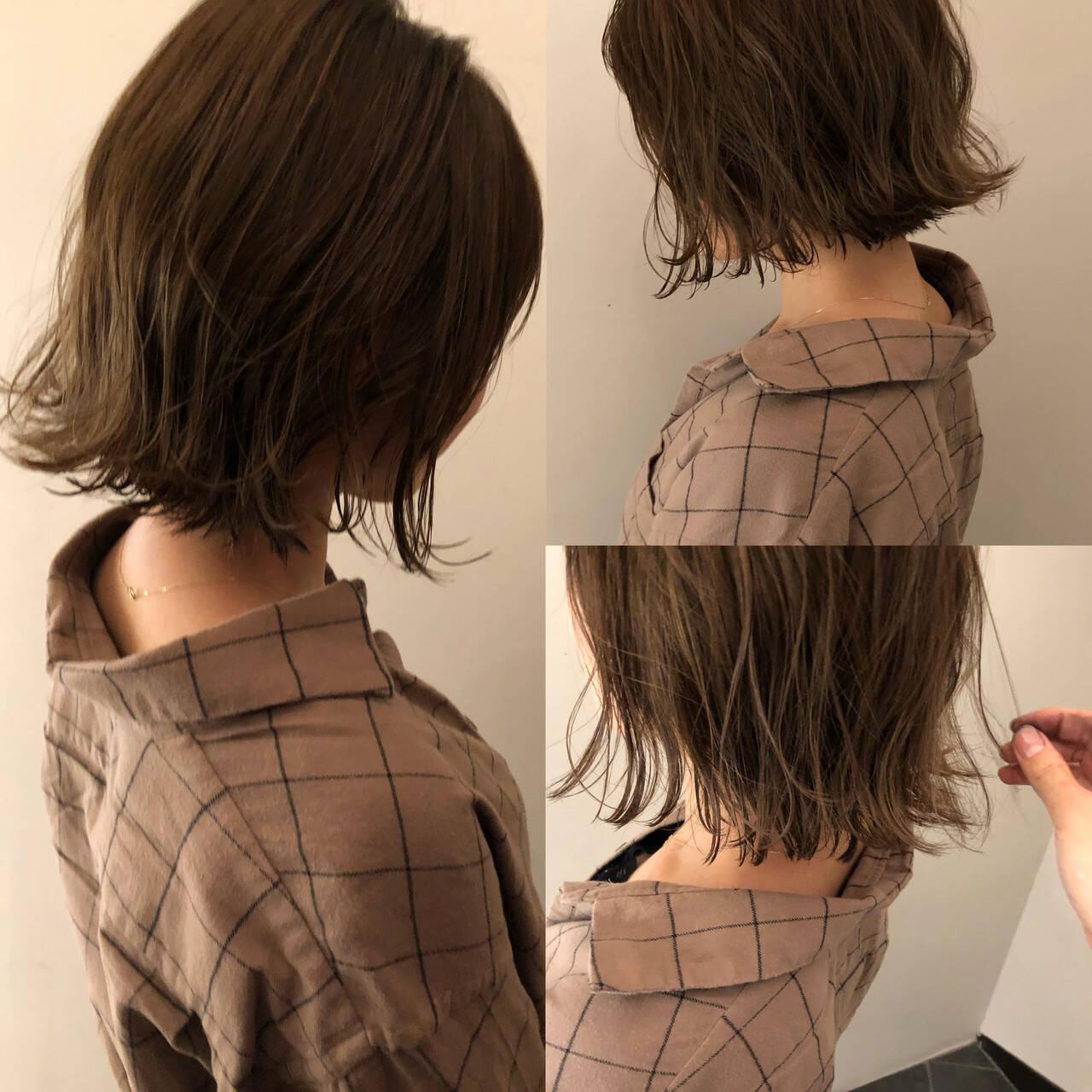 ショートヘア ボブ ショートボブ ナチュラルヘアスタイルや髪型の写真・画像