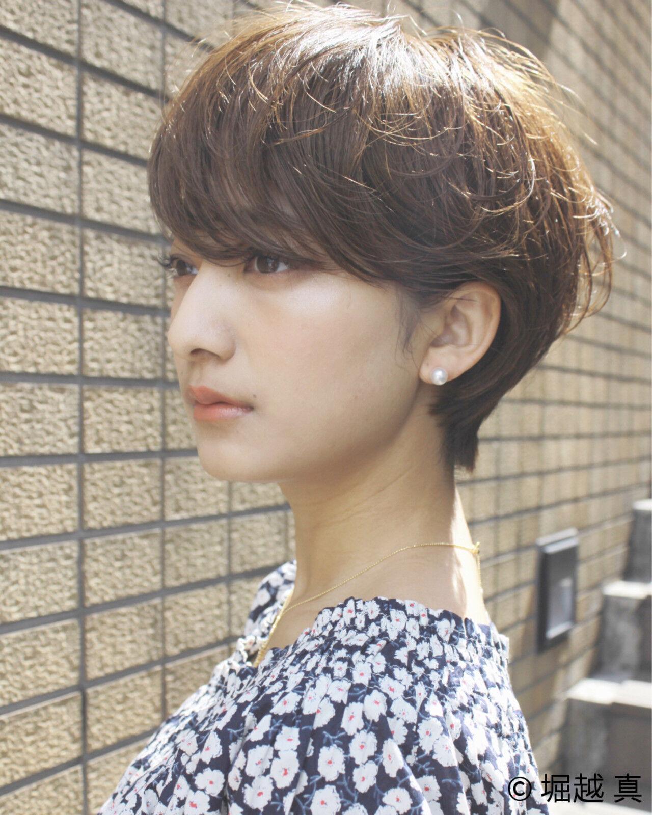 大人女子 ショートボブ ナチュラル アッシュヘアスタイルや髪型の写真・画像