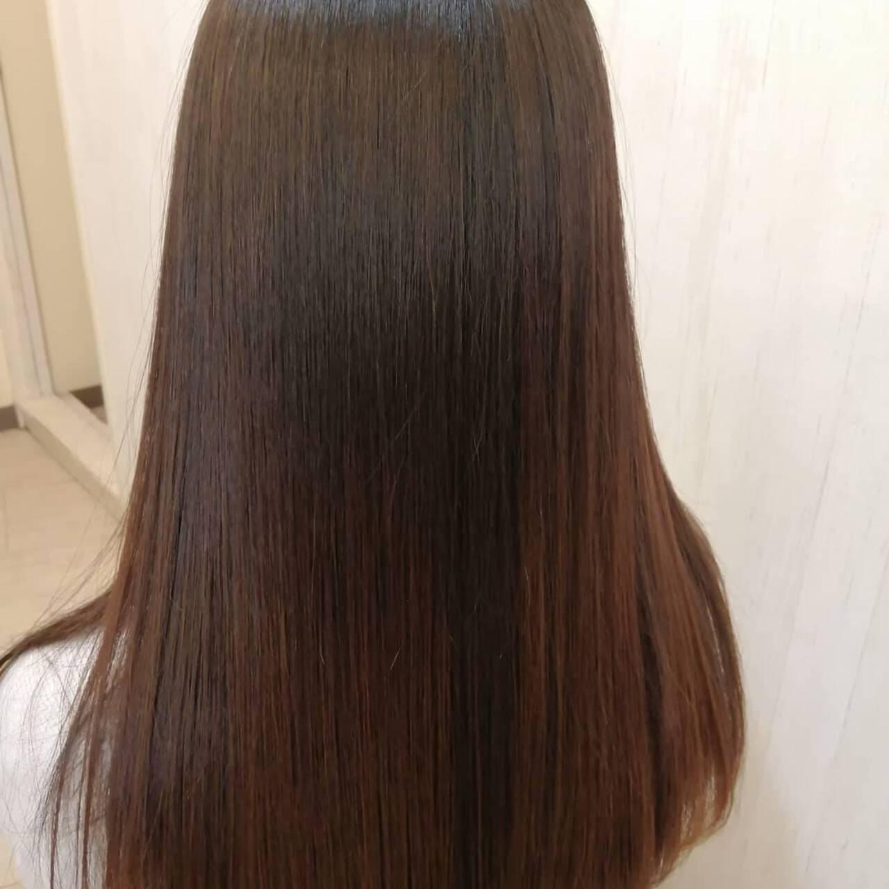 ロング ストレート 大人ロング 髪質改善ヘアスタイルや髪型の写真・画像
