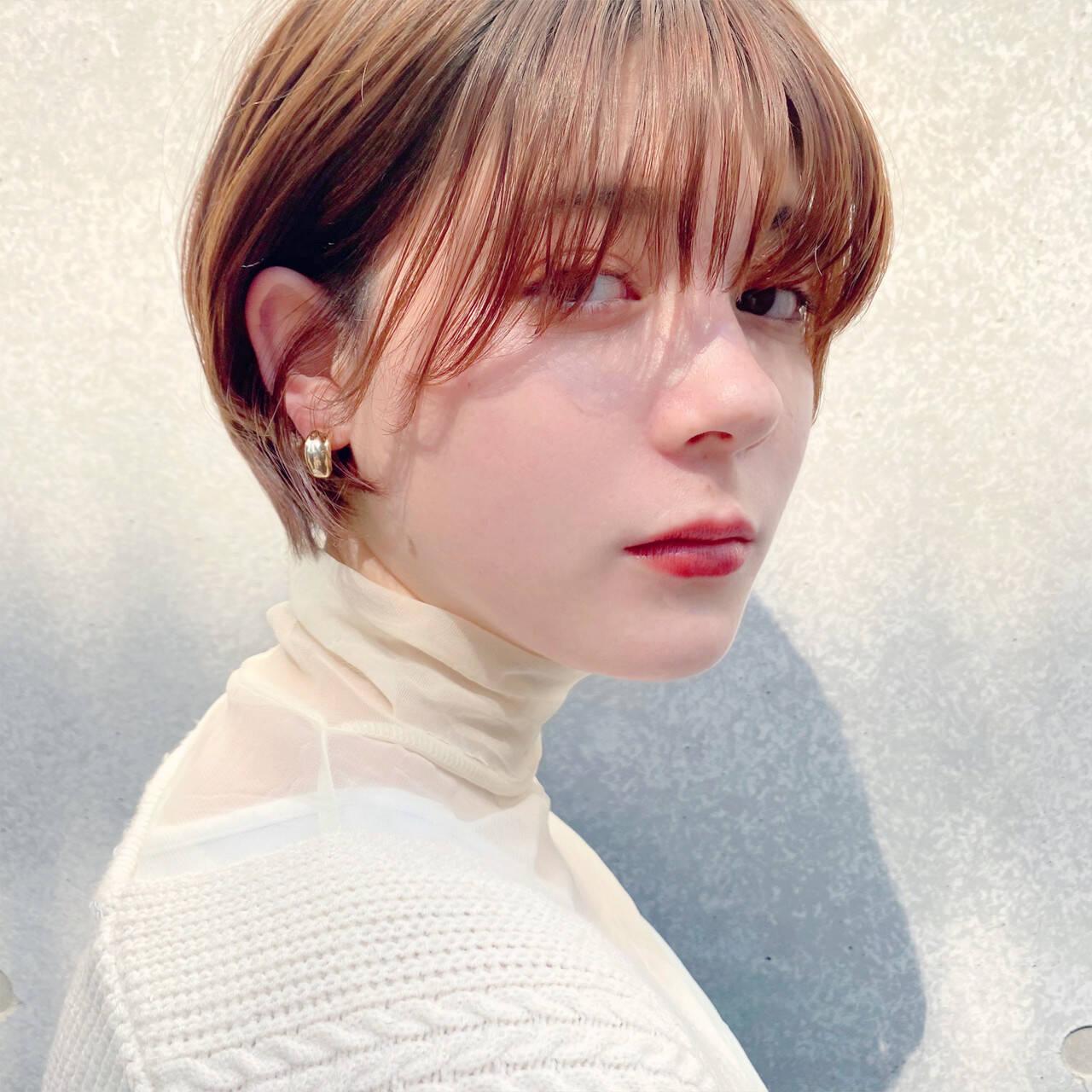 マッシュショート ミニボブ ショートボブ ナチュラルヘアスタイルや髪型の写真・画像