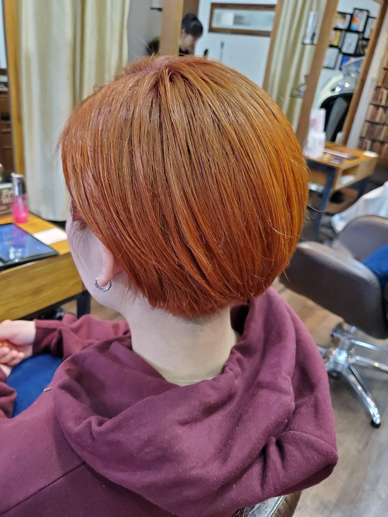 ショート ショートヘア ガーリー ショートボブヘアスタイルや髪型の写真・画像