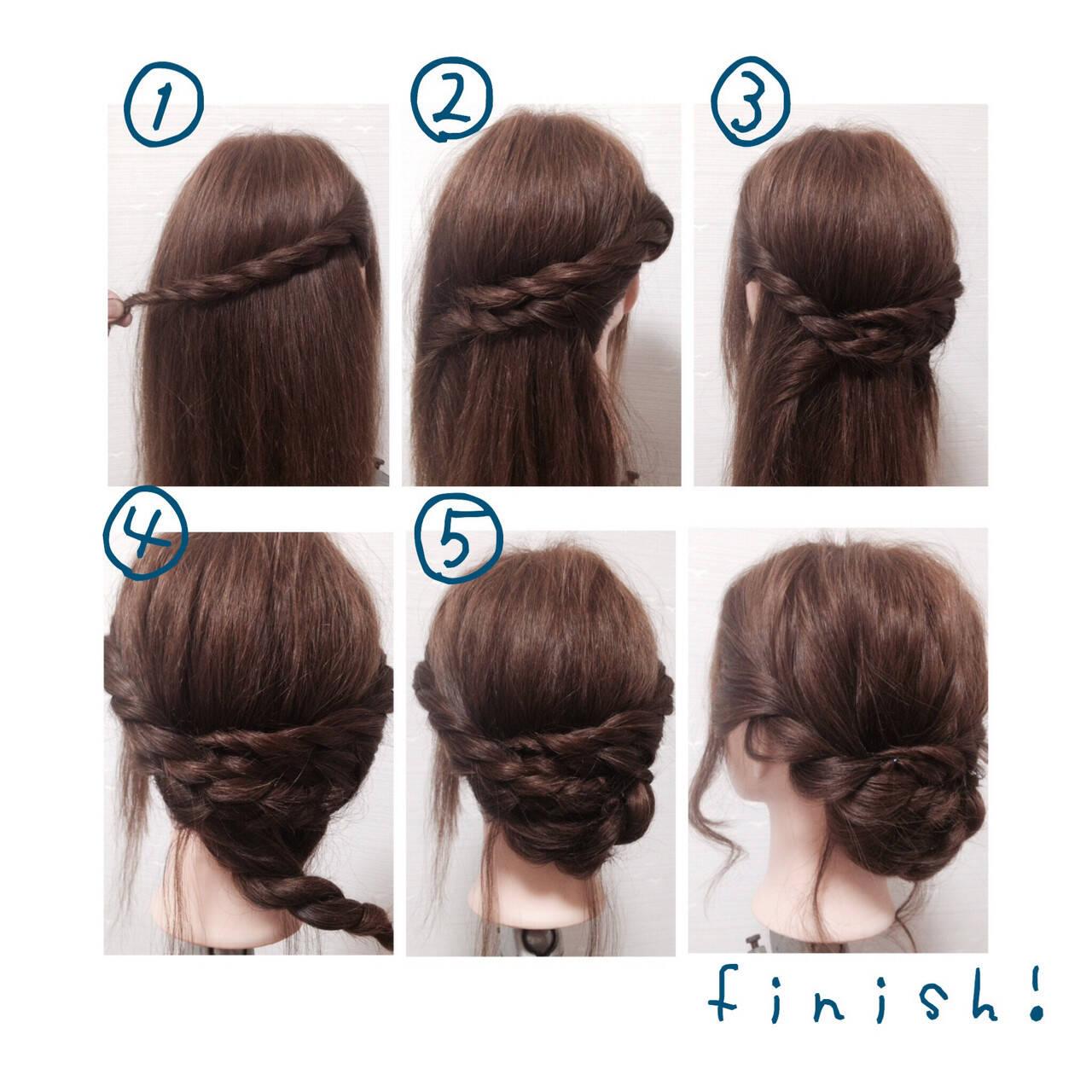 ショート フェミニン ゆるふわ 簡単ヘアアレンジヘアスタイルや髪型の写真・画像