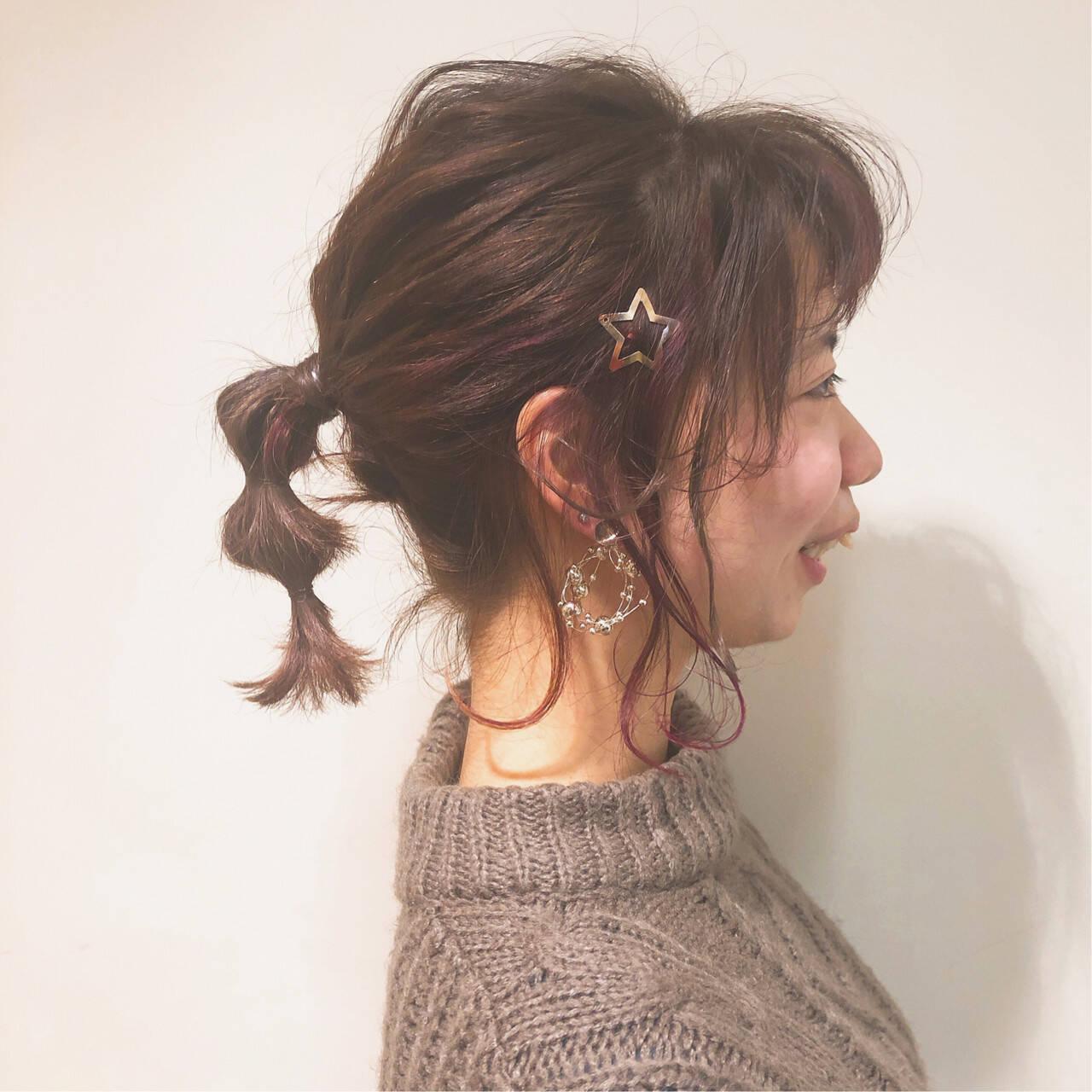 ヘアアレンジ ガーリー 外国人風カラー 簡単ヘアアレンジヘアスタイルや髪型の写真・画像