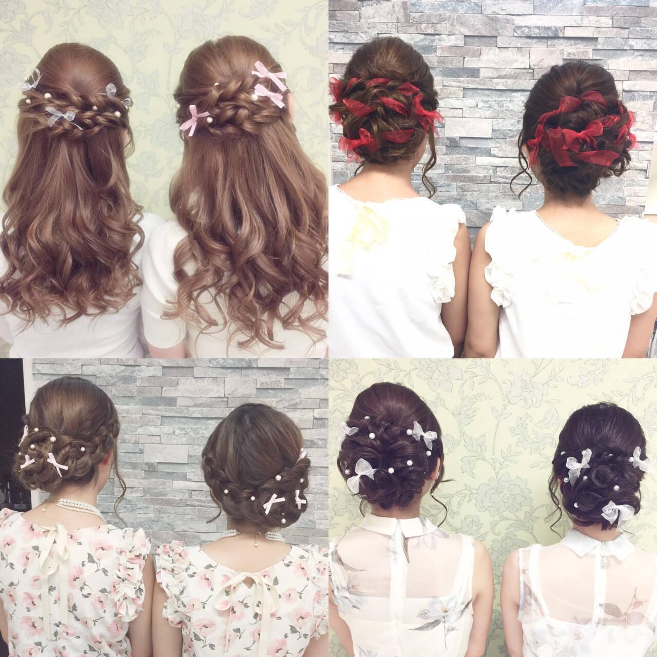 夏 ヘアアレンジ ミディアム 簡単ヘアアレンジヘアスタイルや髪型の写真・画像