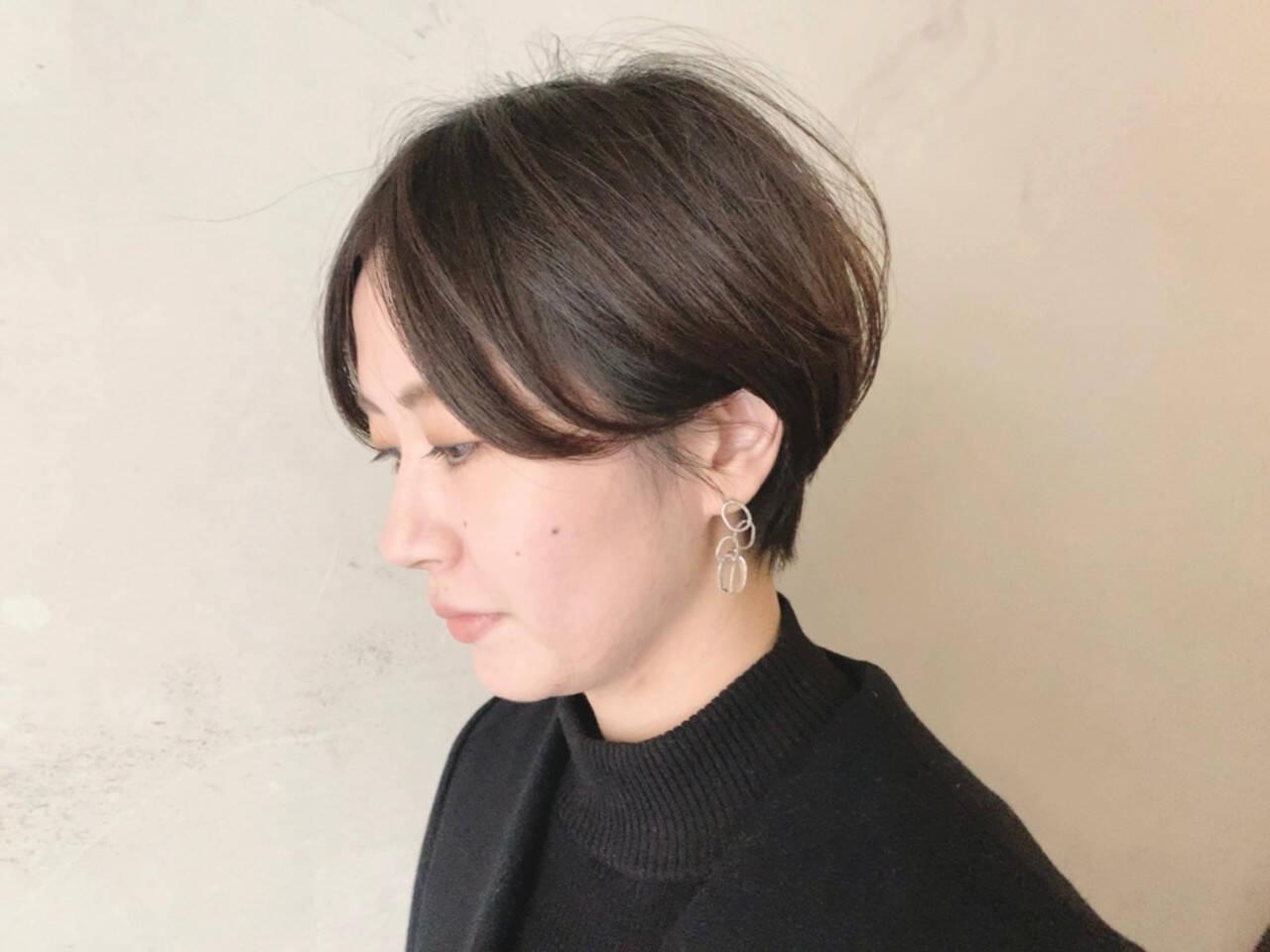 ナチュラル 簡単スタイリング ショート ショートヘアヘアスタイルや髪型の写真・画像