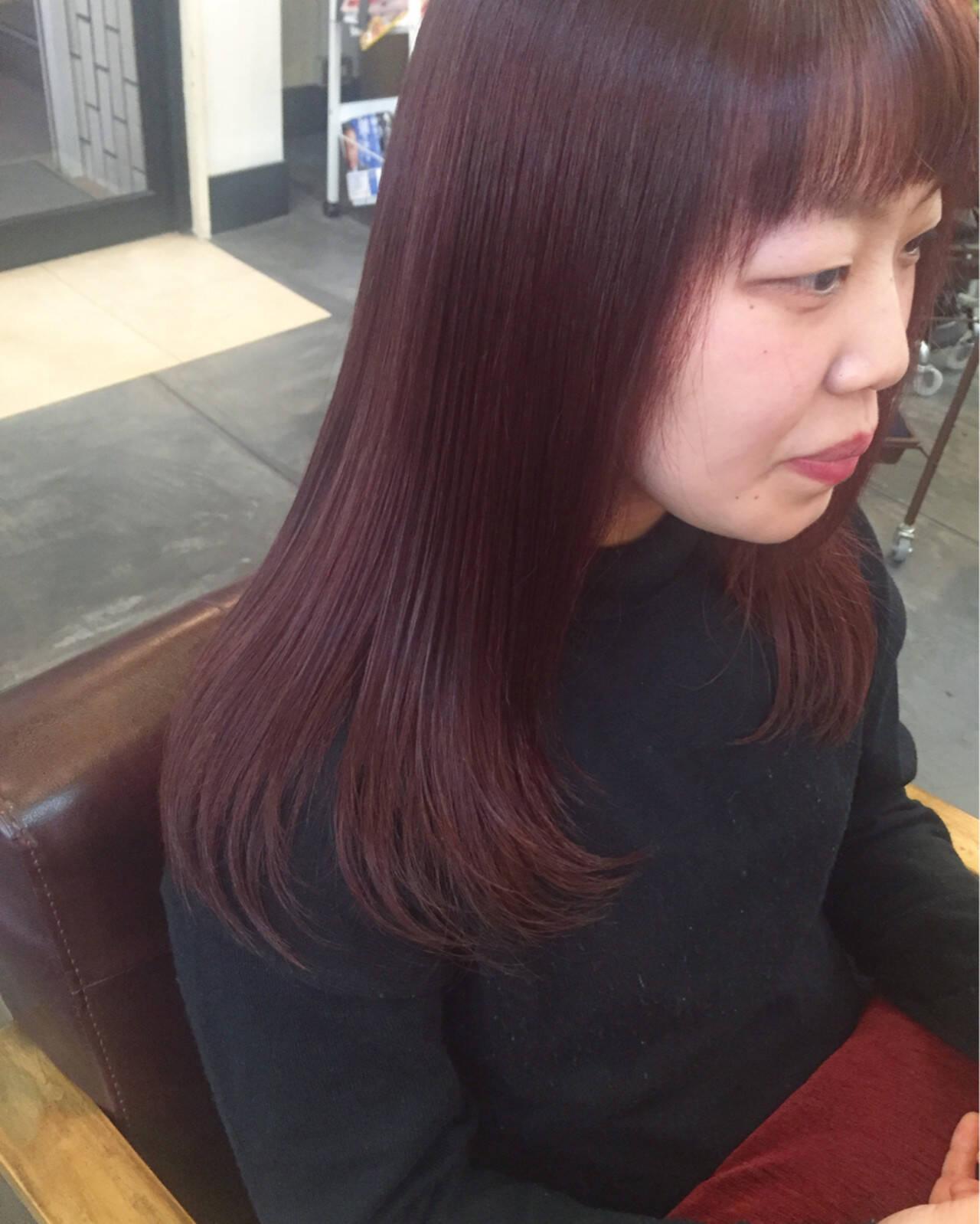 ラベンダーピンク ピンク ラベンダーアッシュ ベリーピンクヘアスタイルや髪型の写真・画像