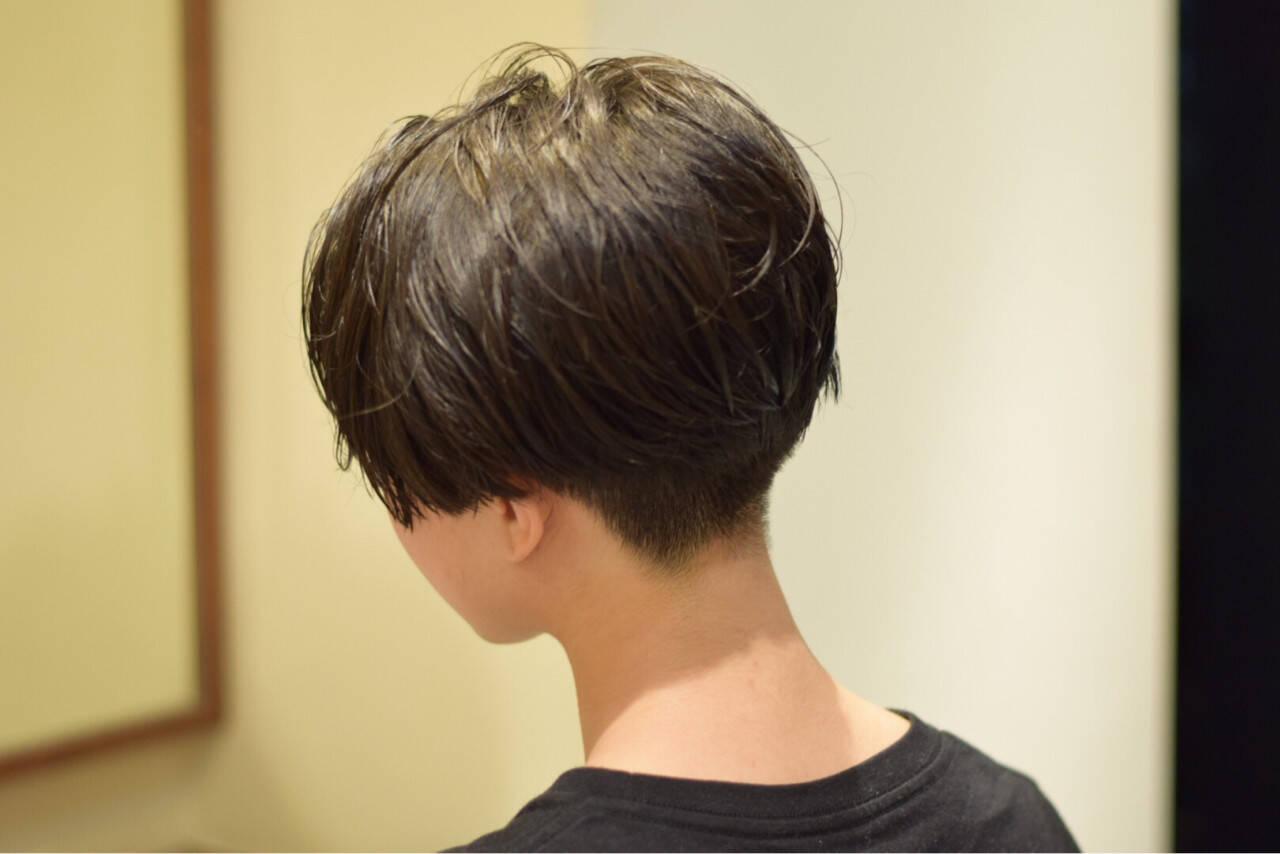 モード 大人女子 ジェンダーレス ショートヘアスタイルや髪型の写真・画像