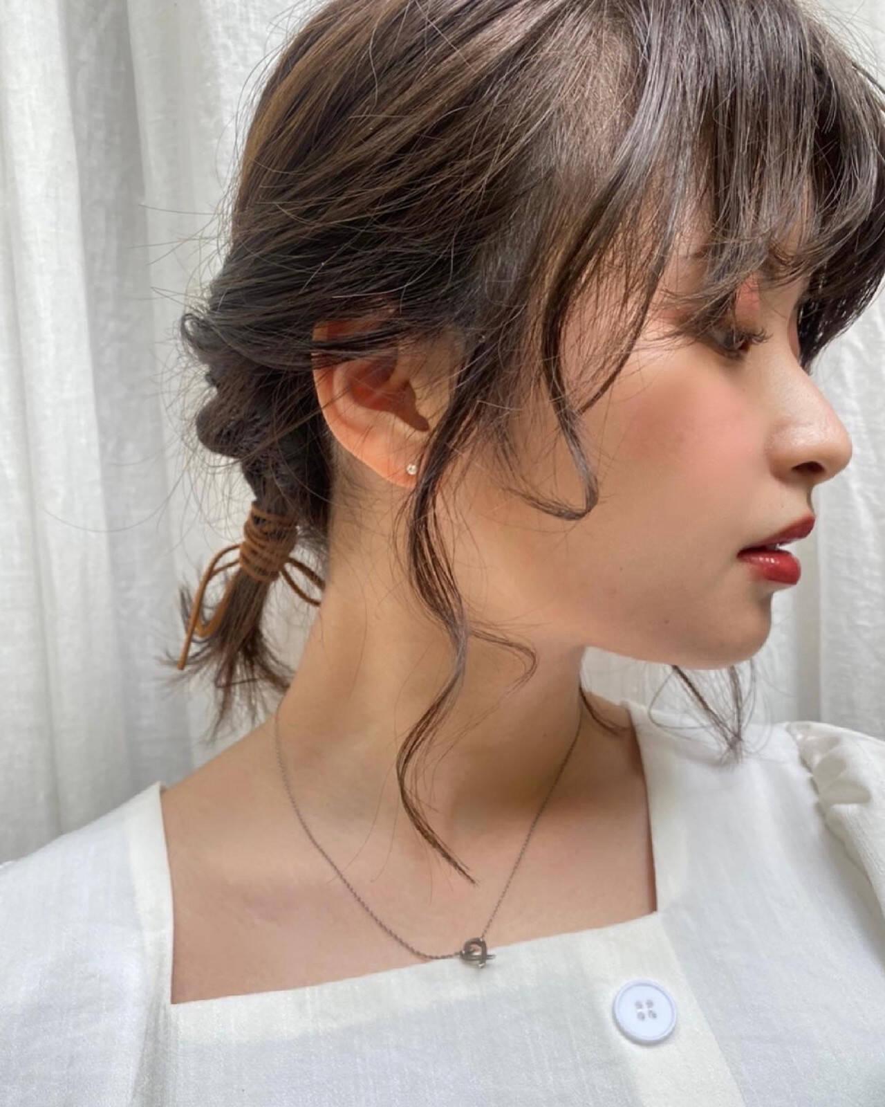 ふわふわヘアアレンジ 簡単ヘアアレンジ ナチュラル ヘアアレンジヘアスタイルや髪型の写真・画像