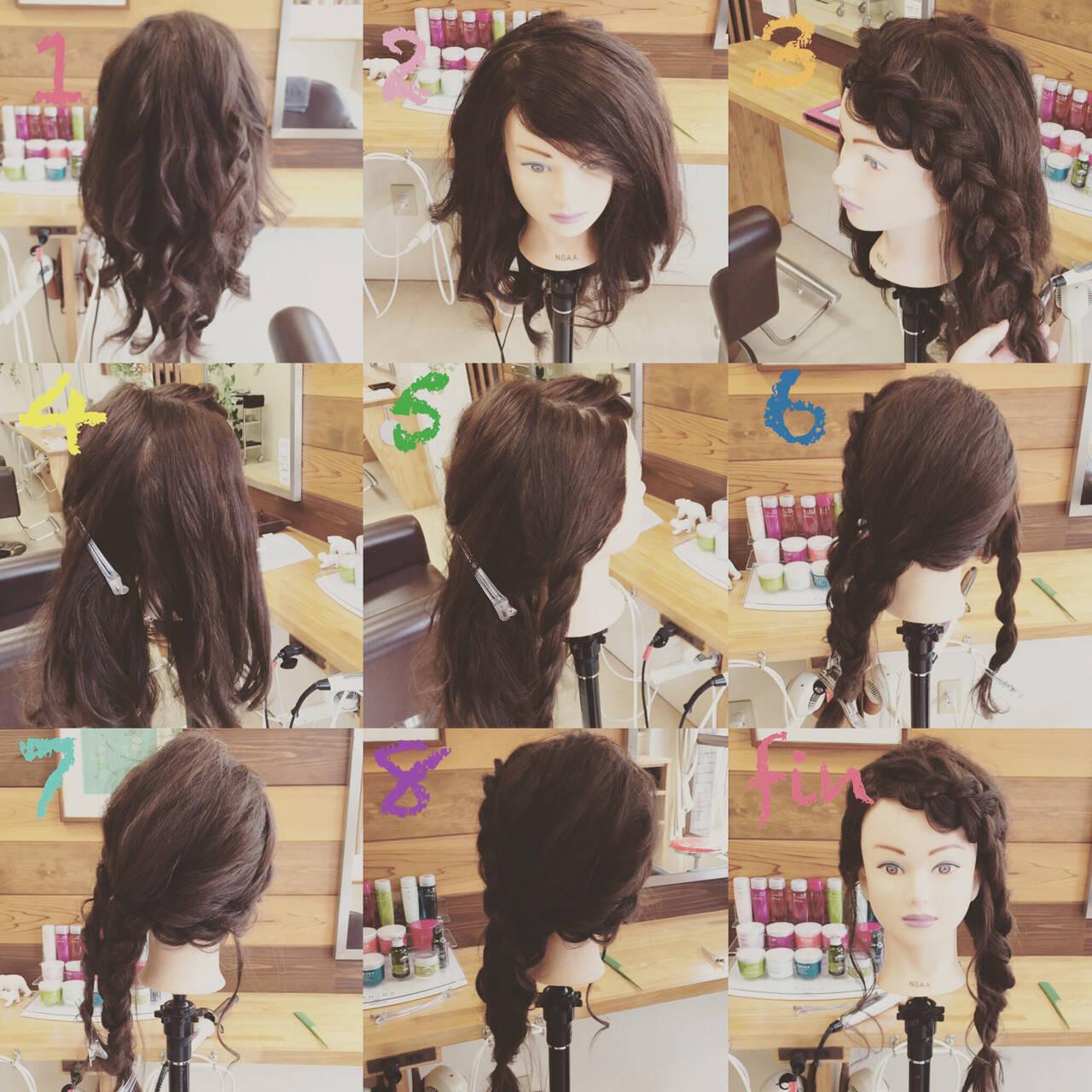 和装 簡単ヘアアレンジ ヘアアレンジ セミロングヘアスタイルや髪型の写真・画像