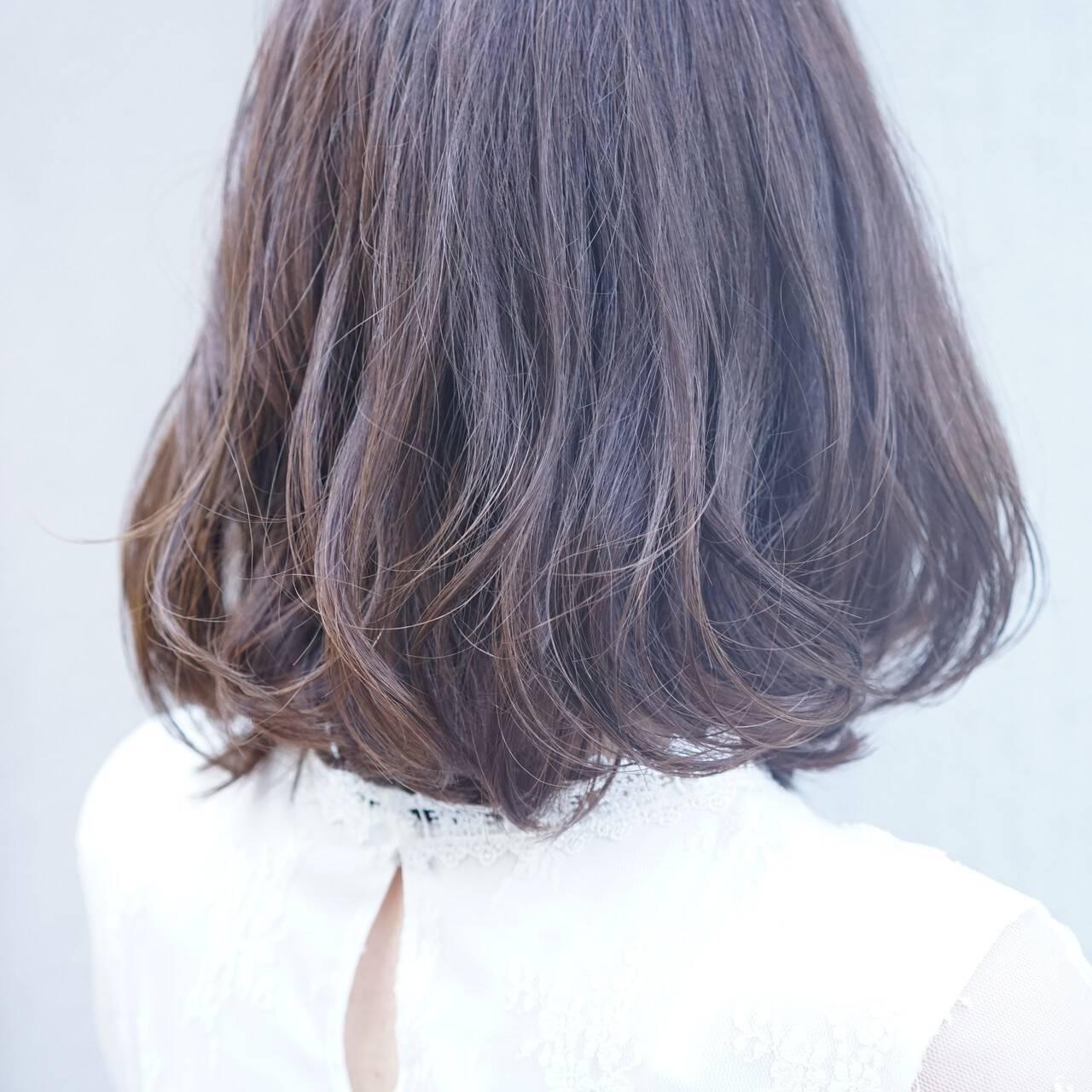 かわいい 美シルエット ナチュラル ボブヘアスタイルや髪型の写真・画像