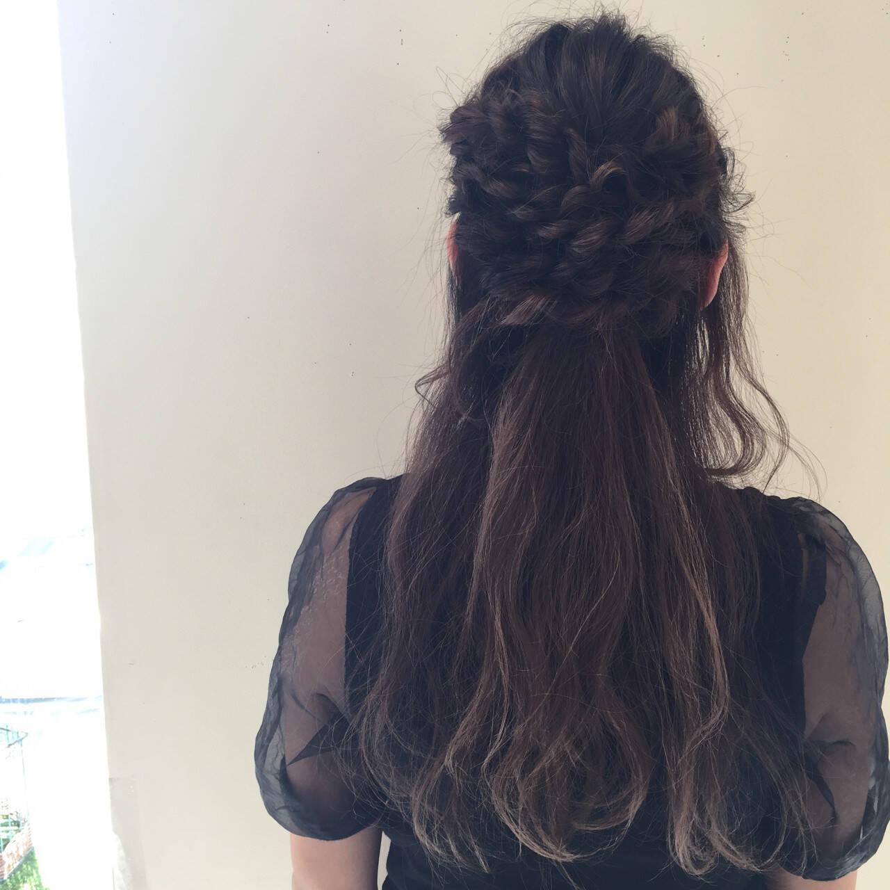 アンニュイ 結婚式 無造作 ウェーブヘアスタイルや髪型の写真・画像