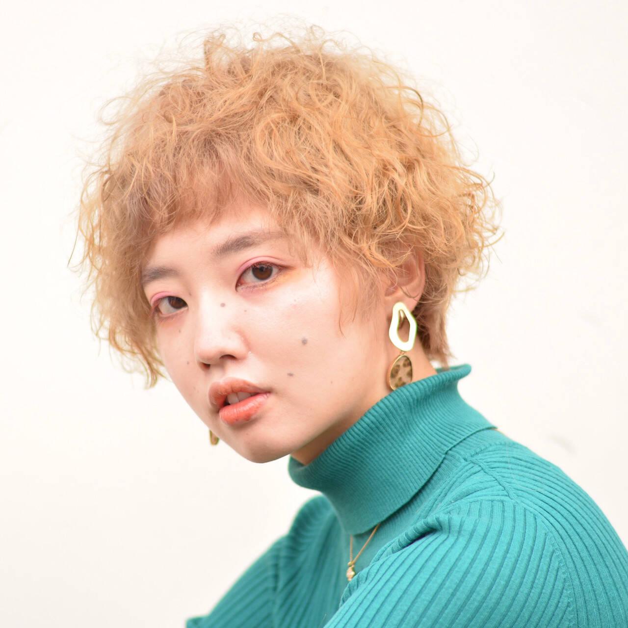 ストリート ハイトーン ハイトーンカラー 個性的ヘアスタイルや髪型の写真・画像