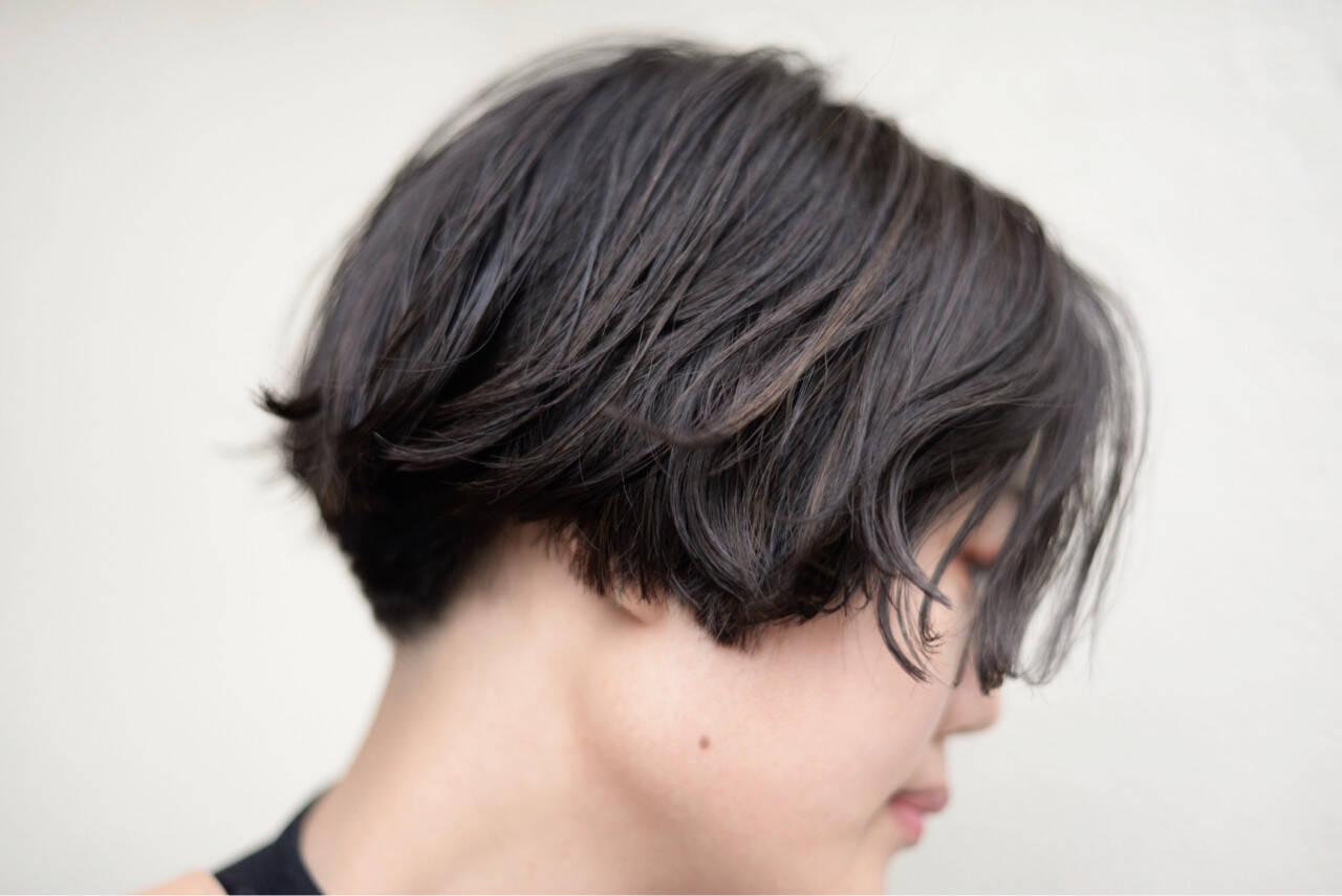 色気 大人女子 小顔 ショートヘアスタイルや髪型の写真・画像
