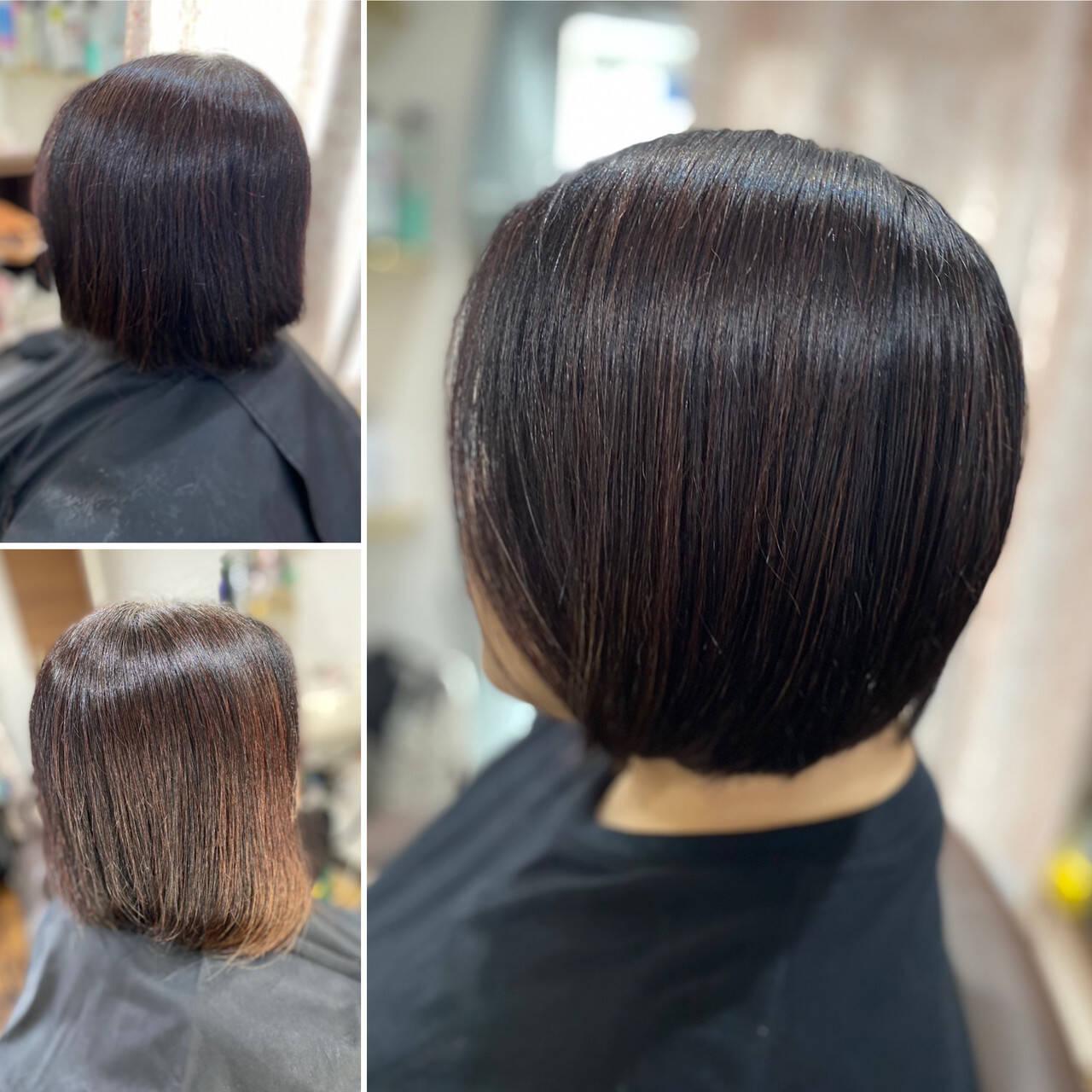 髪質改善 ヘナカラー 薄毛改善 モードヘアスタイルや髪型の写真・画像