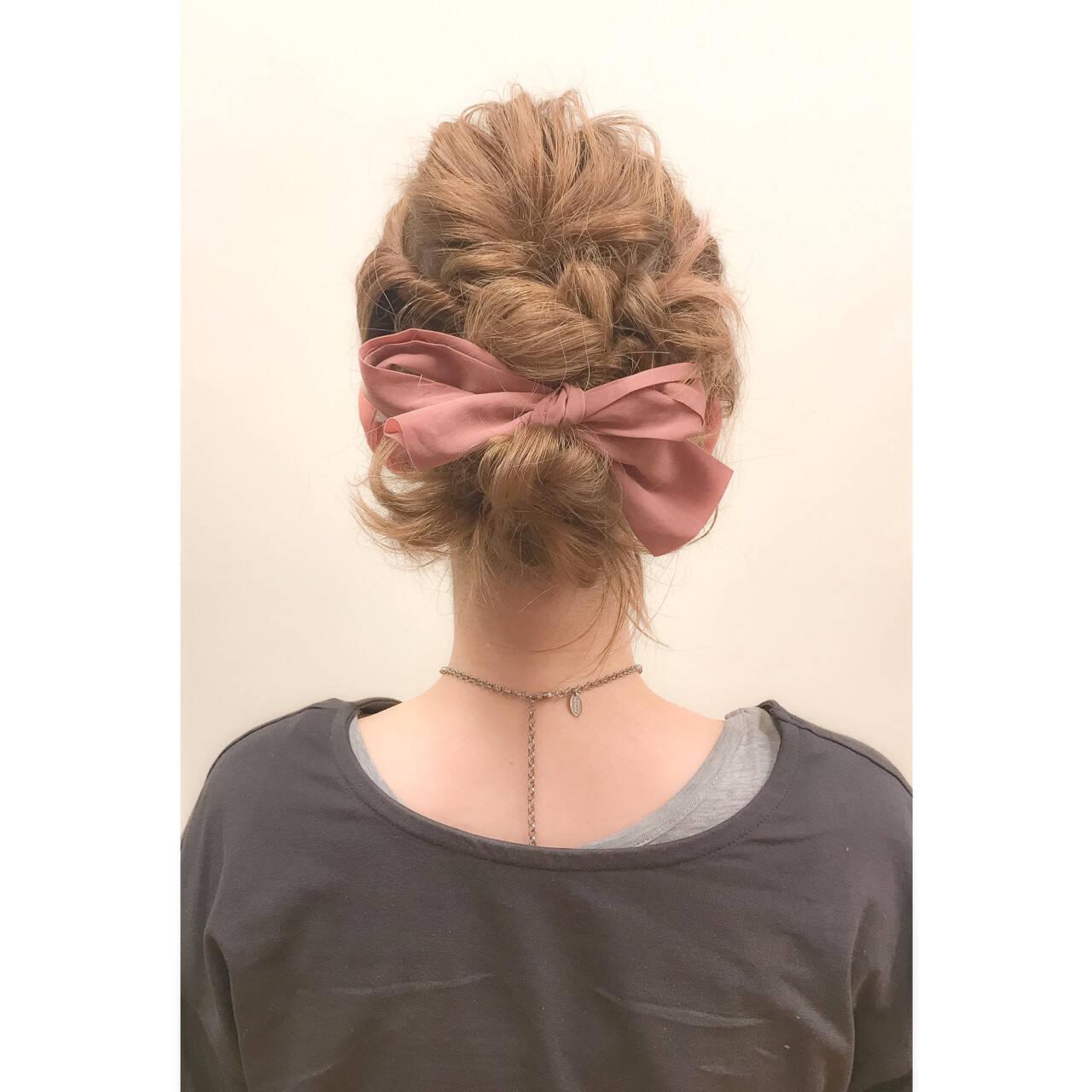 パーティ ショート ガーリー 簡単ヘアアレンジヘアスタイルや髪型の写真・画像