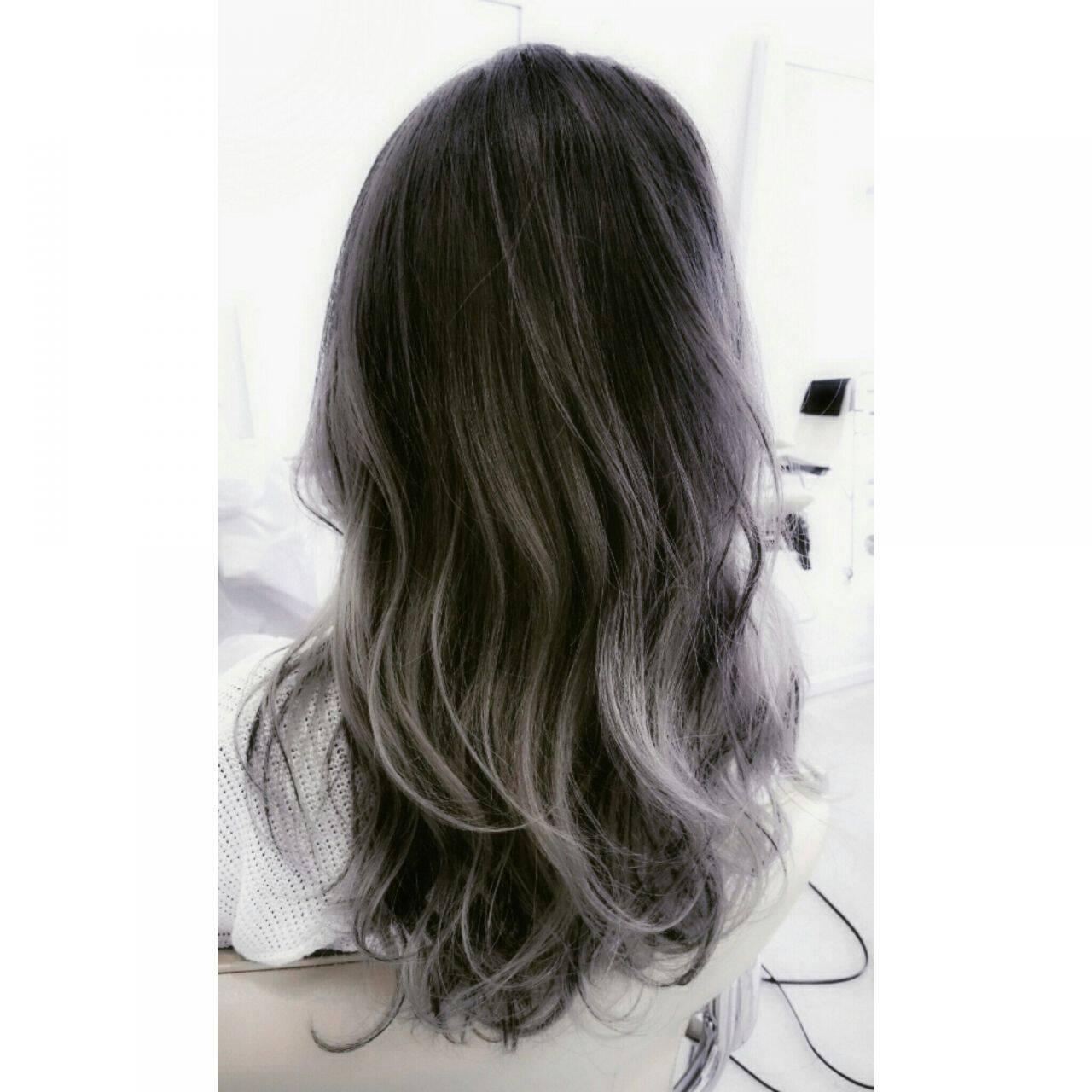 ロング パンク 外国人風 アッシュヘアスタイルや髪型の写真・画像