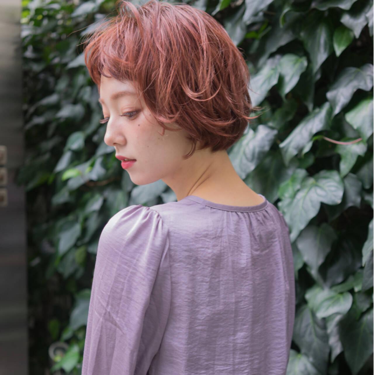 ワイドバング 外国人風 ボブ ニュアンスヘアスタイルや髪型の写真・画像